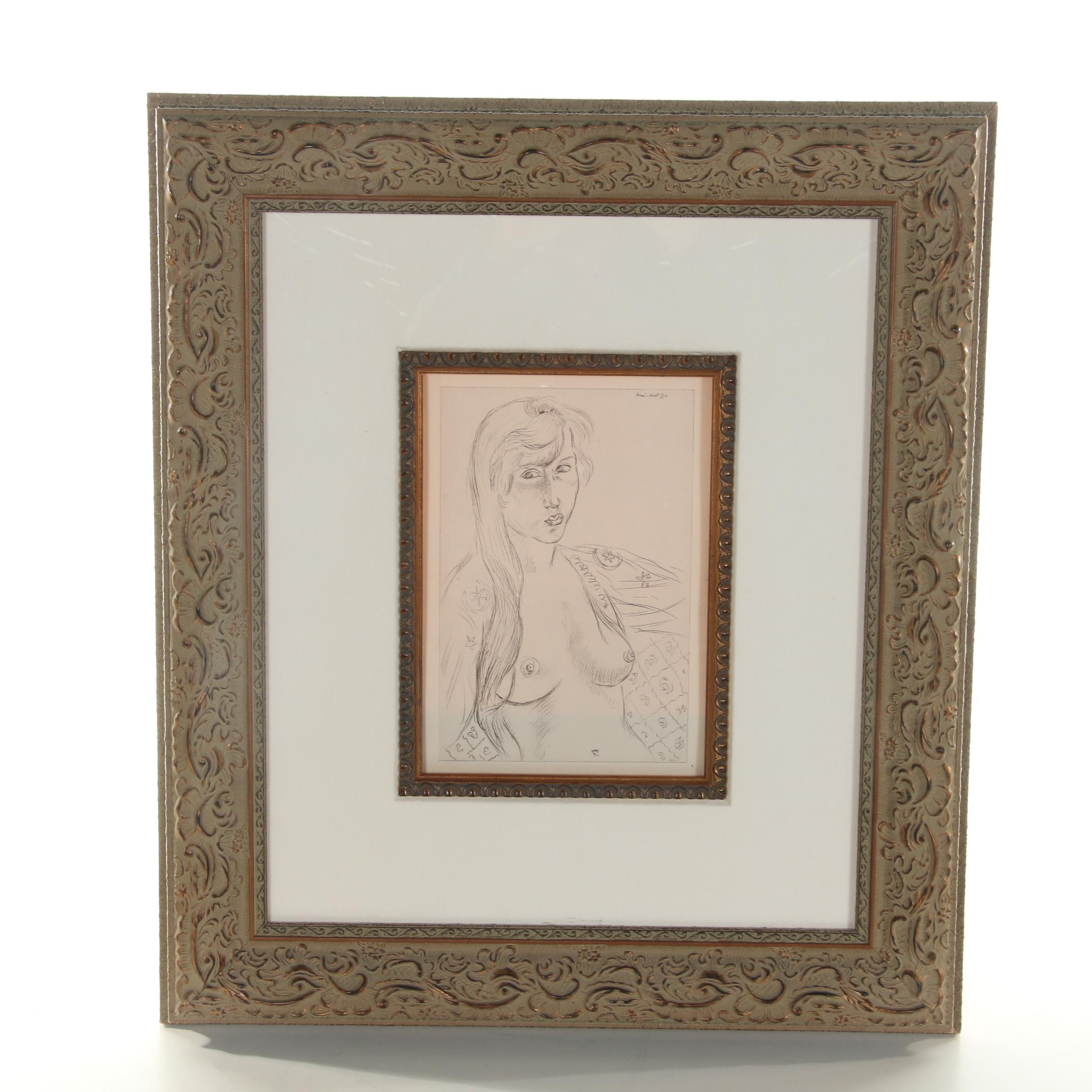 Reproduction Lithograph after Henri Matisse