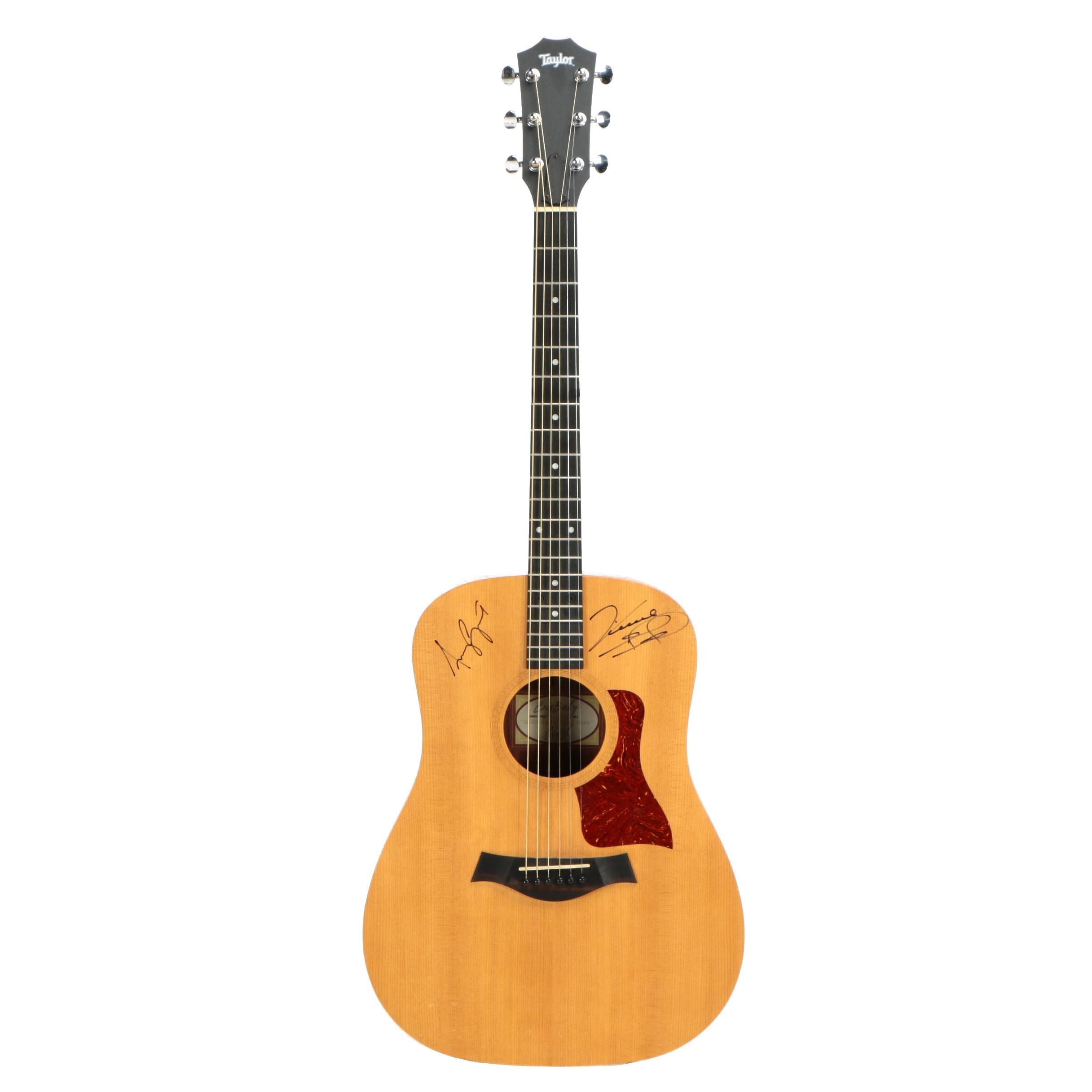 Vince Gill and Amy Grant Autographed Taylor Big Baby Acoustic Guitar, 2008