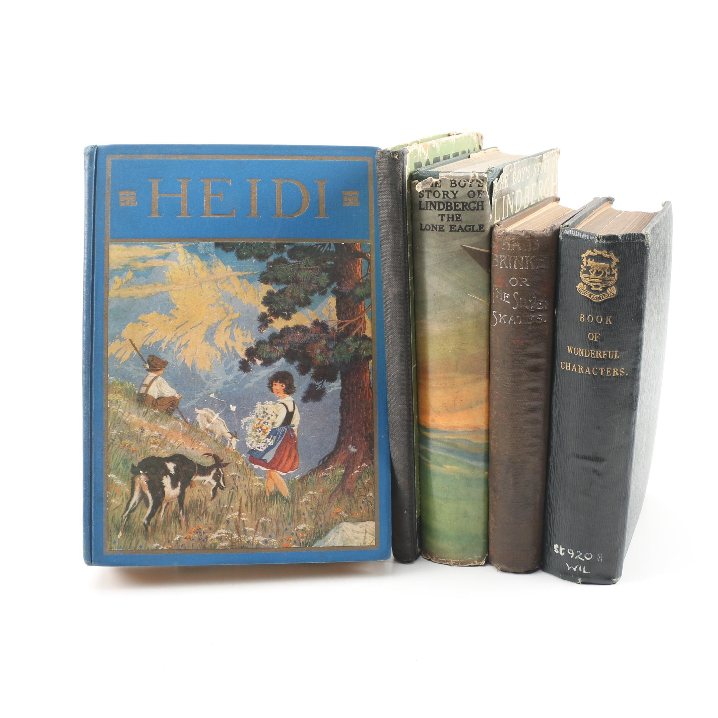 "Children's Books featuring 1921 ""Heidi"" and 1920 ""Raggedy Andy Stories"""