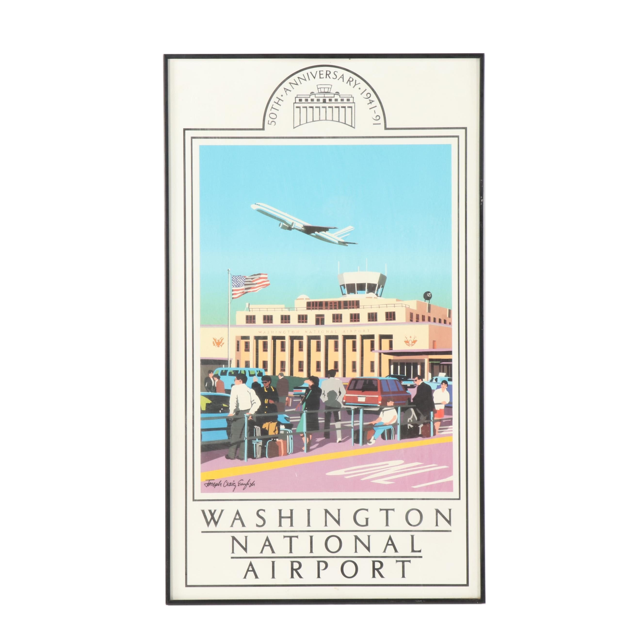 Washington National Airport 50th Anniversary Poster
