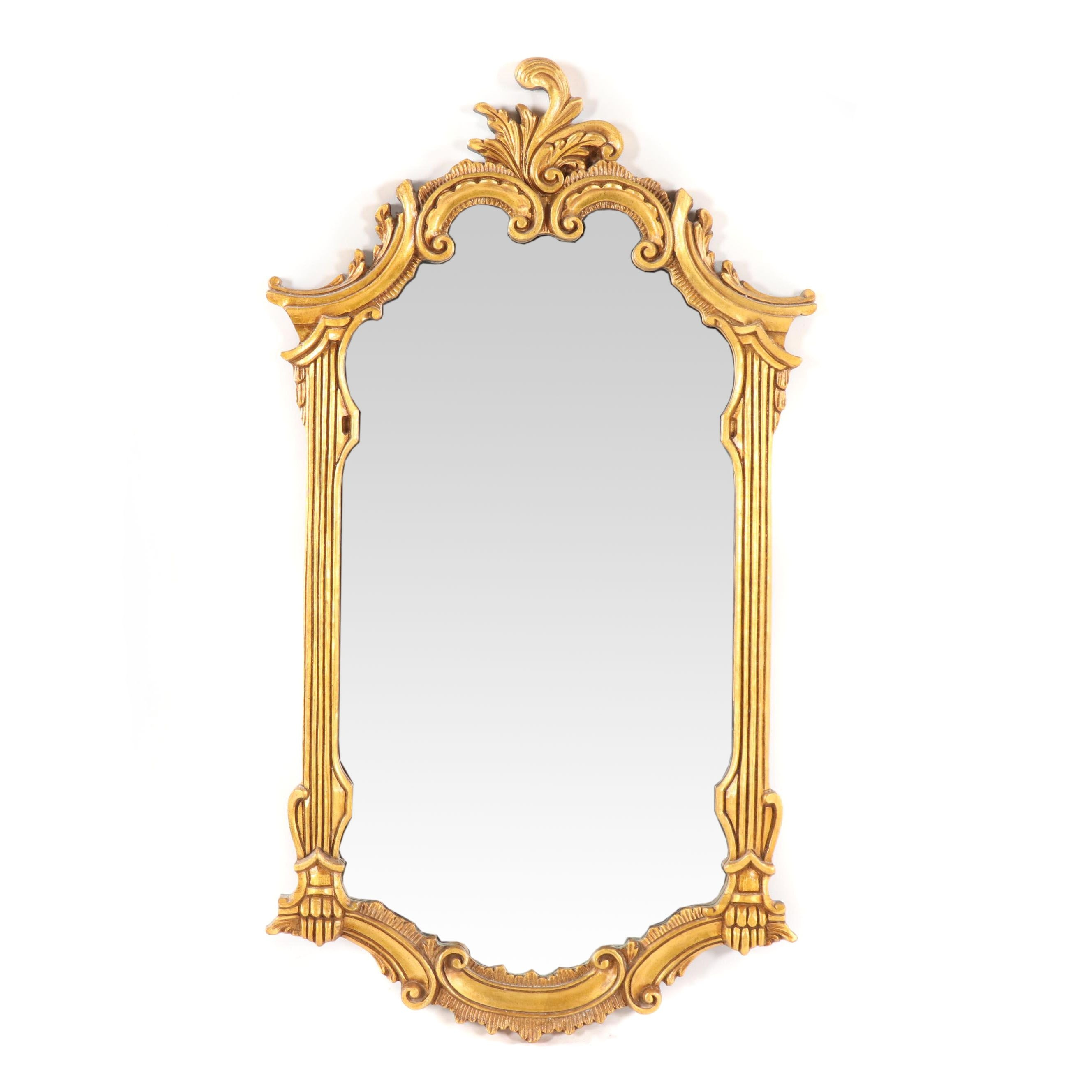Rococo Style Giltwood Wall Mount Mirror, 21st Century
