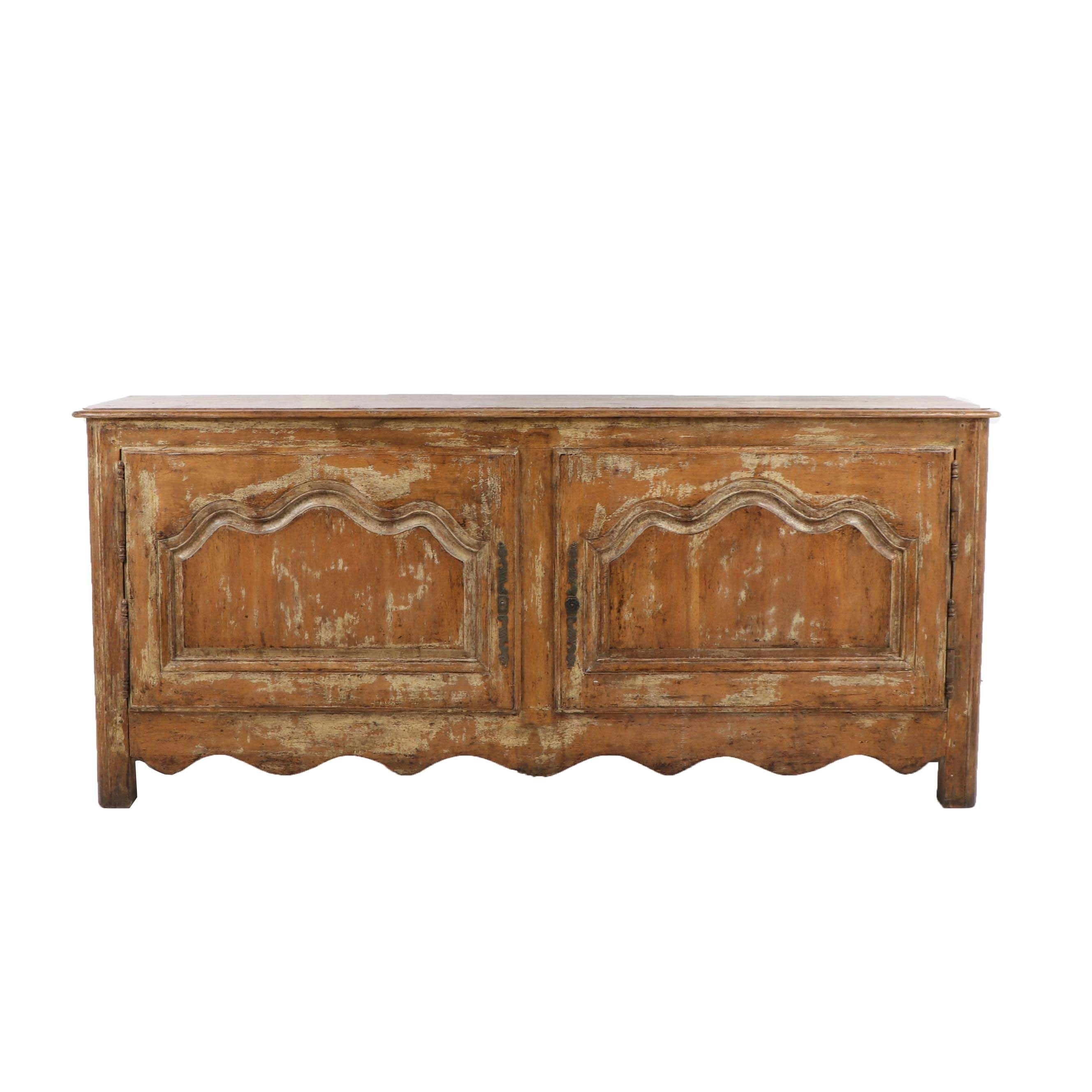 Country French Distressed Wood Buffet