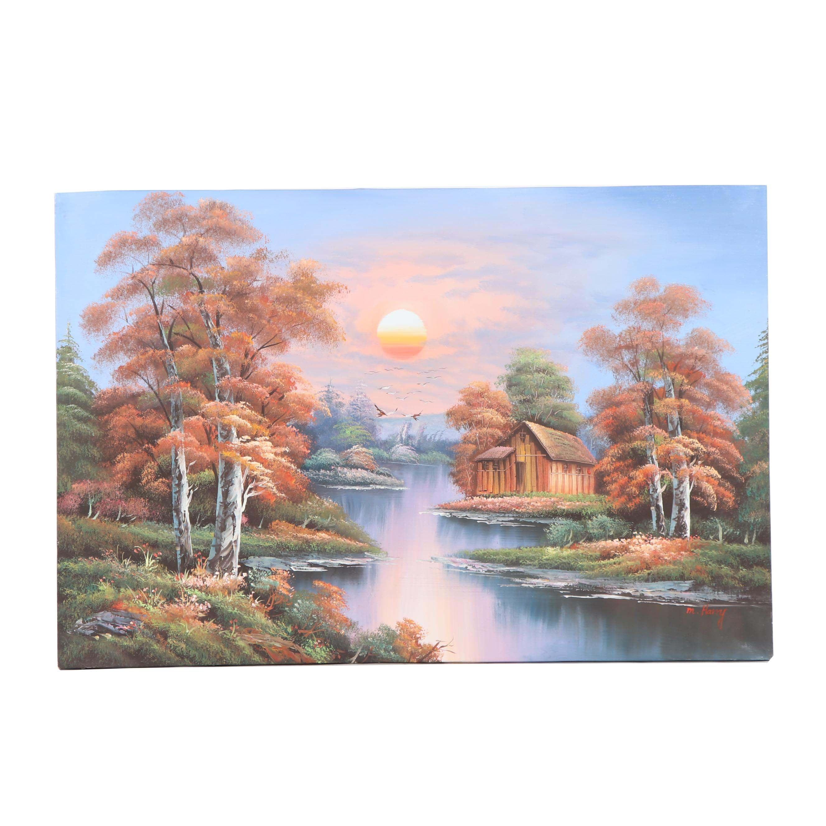 M. Harry Landscape Oil Painting