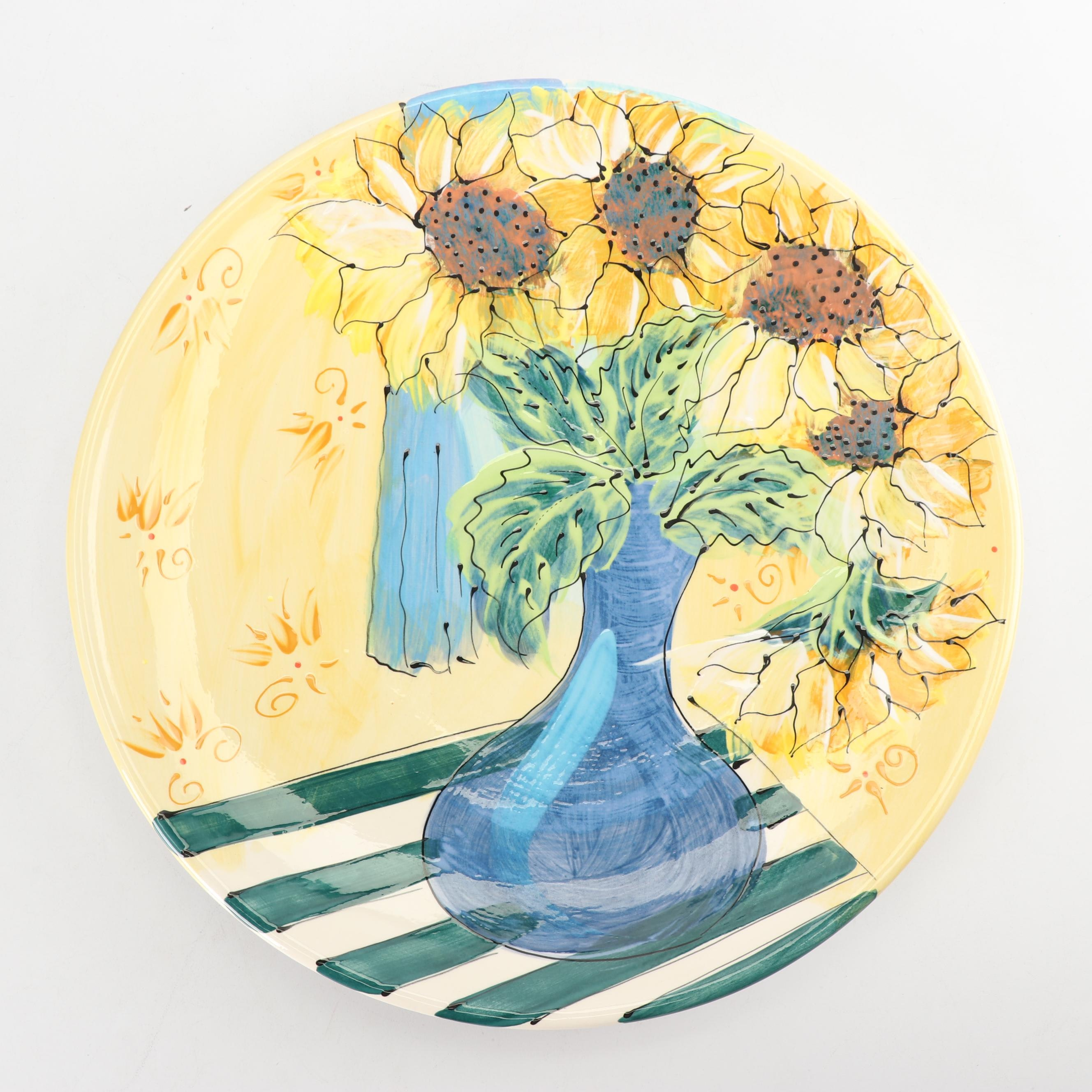 Artables by Debra Durrer Hand Painted Ceramic Platter
