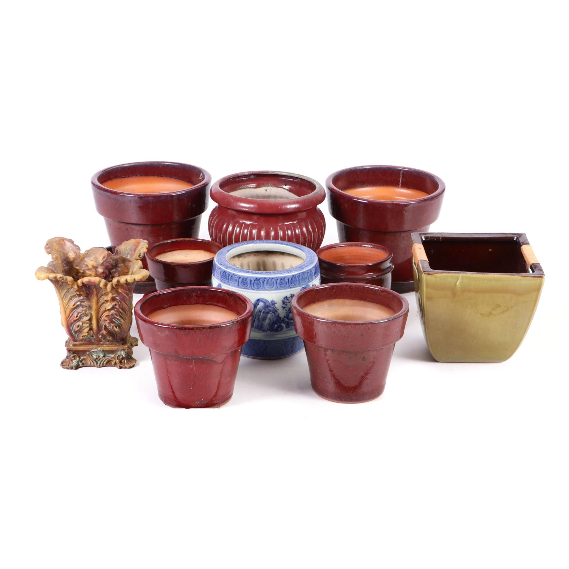 Grouping of Clay Pots