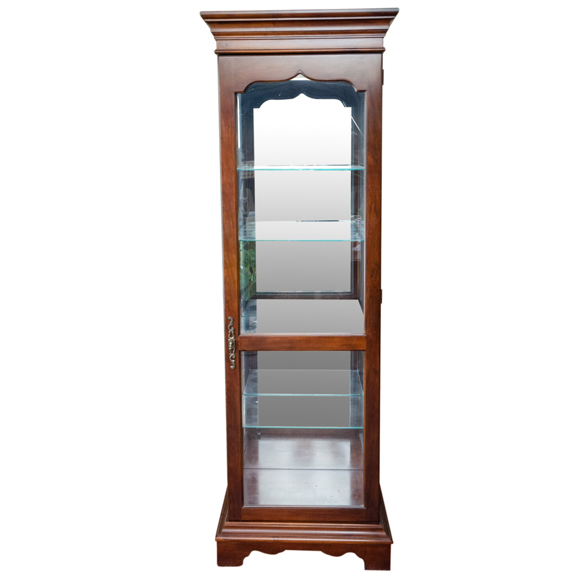 Drexel-Heritage Mahogany Stained Illuminated Curio Cabinet