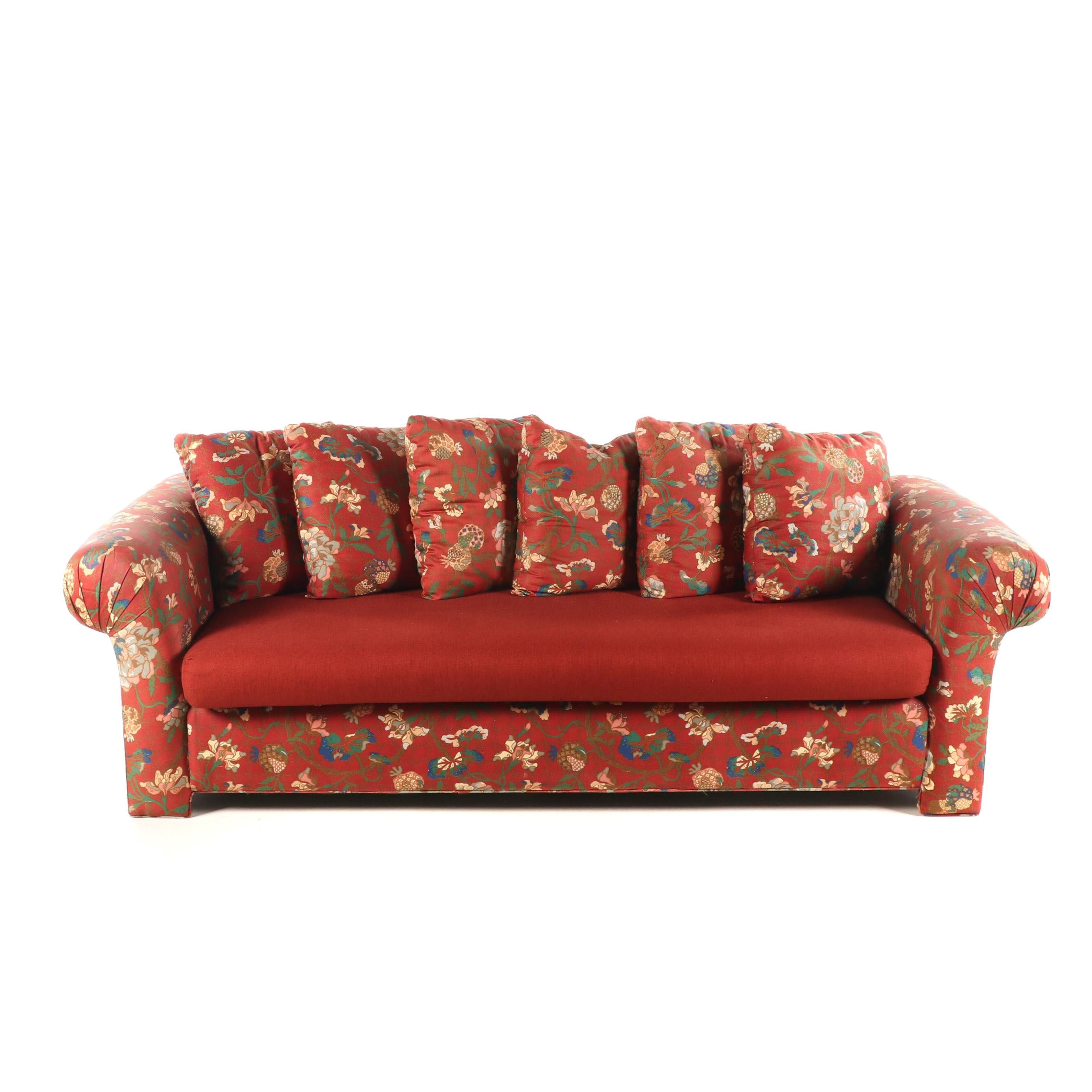 Floral Print Upholstered Sofa by Stratford, Late 20th Century
