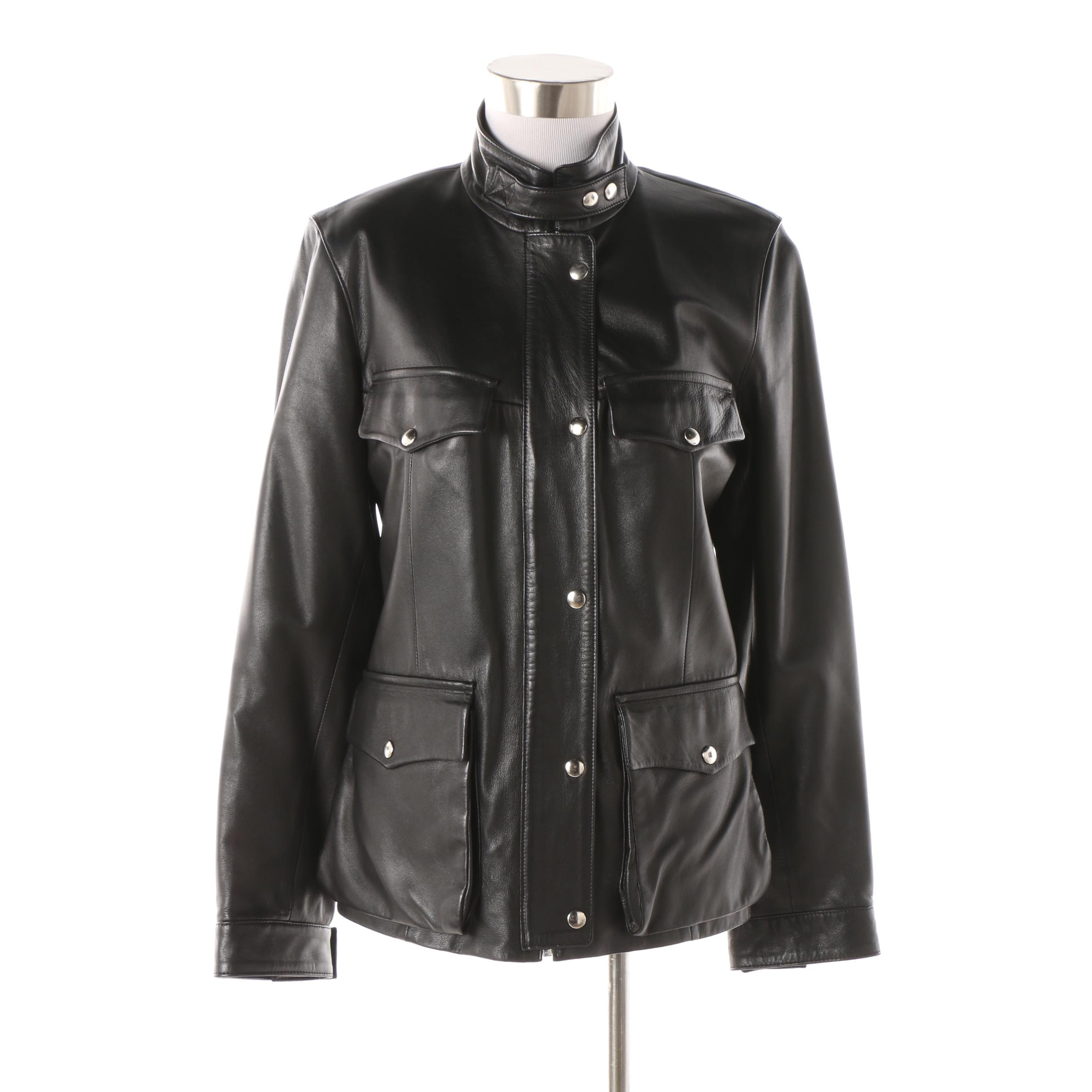 Women's Cuoieria Fiorentina Black Leather Jacket