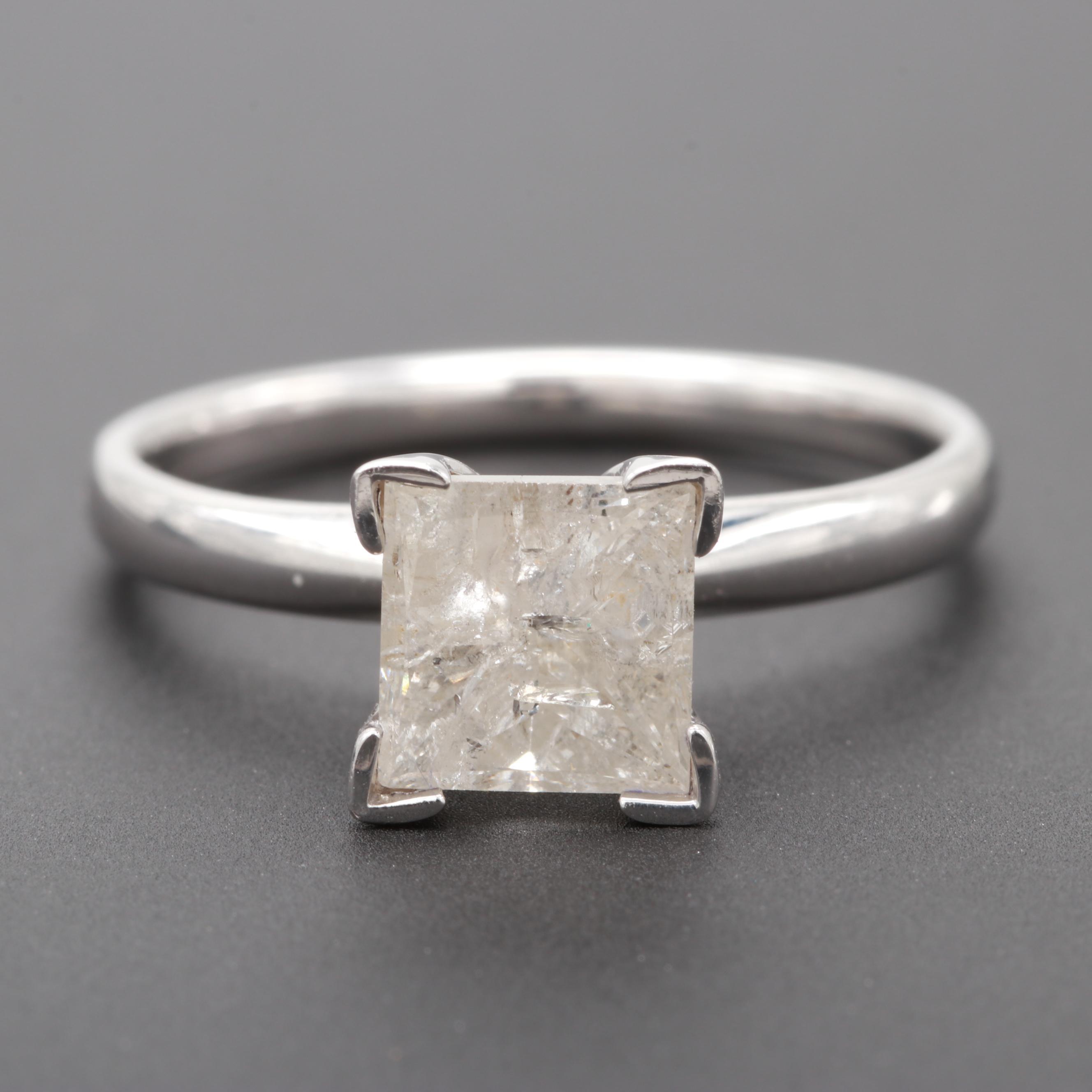 14K White Gold 1.65 CT Diamond Ring