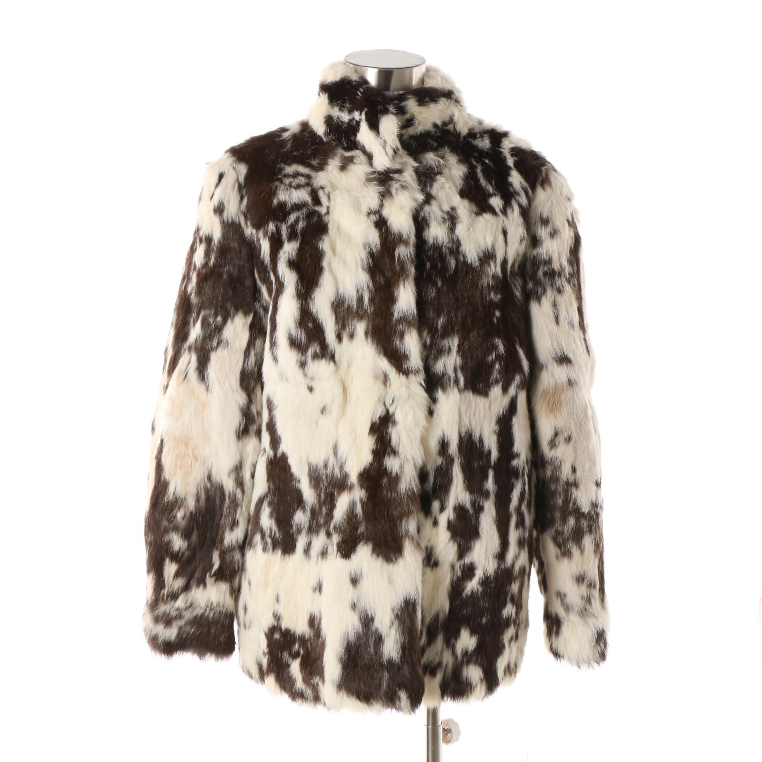 Women's 1980s Vintage Somerset Furs Rabbit Fur Coat