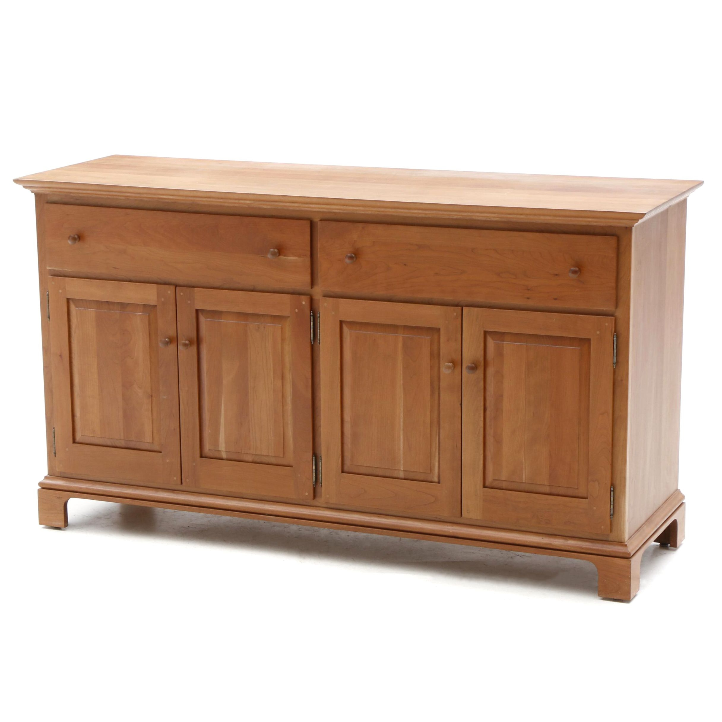 Contemporary Shaker Style Cherry Credenza by Arhaus