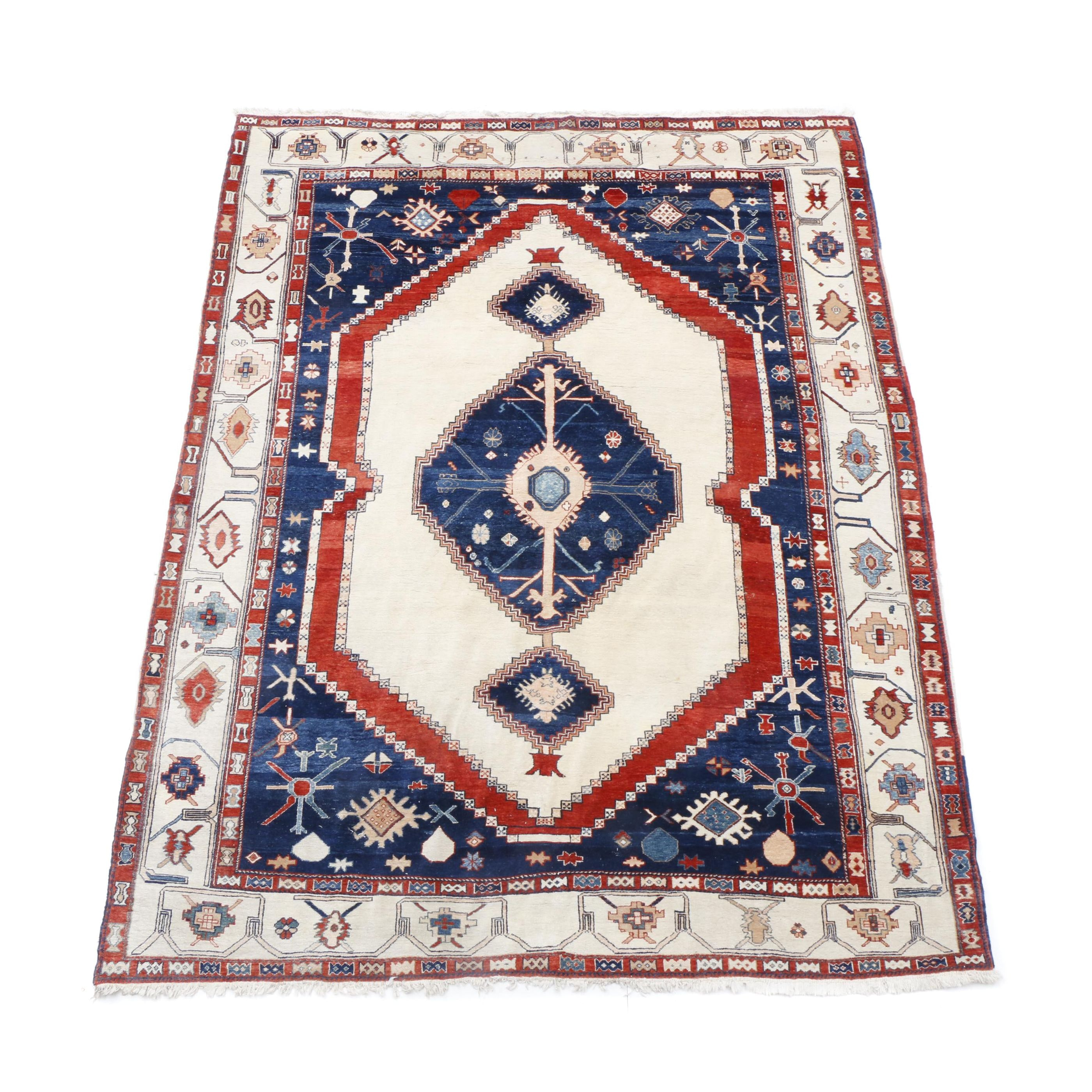 Hand-Knotted Indo-Caucasian Rug