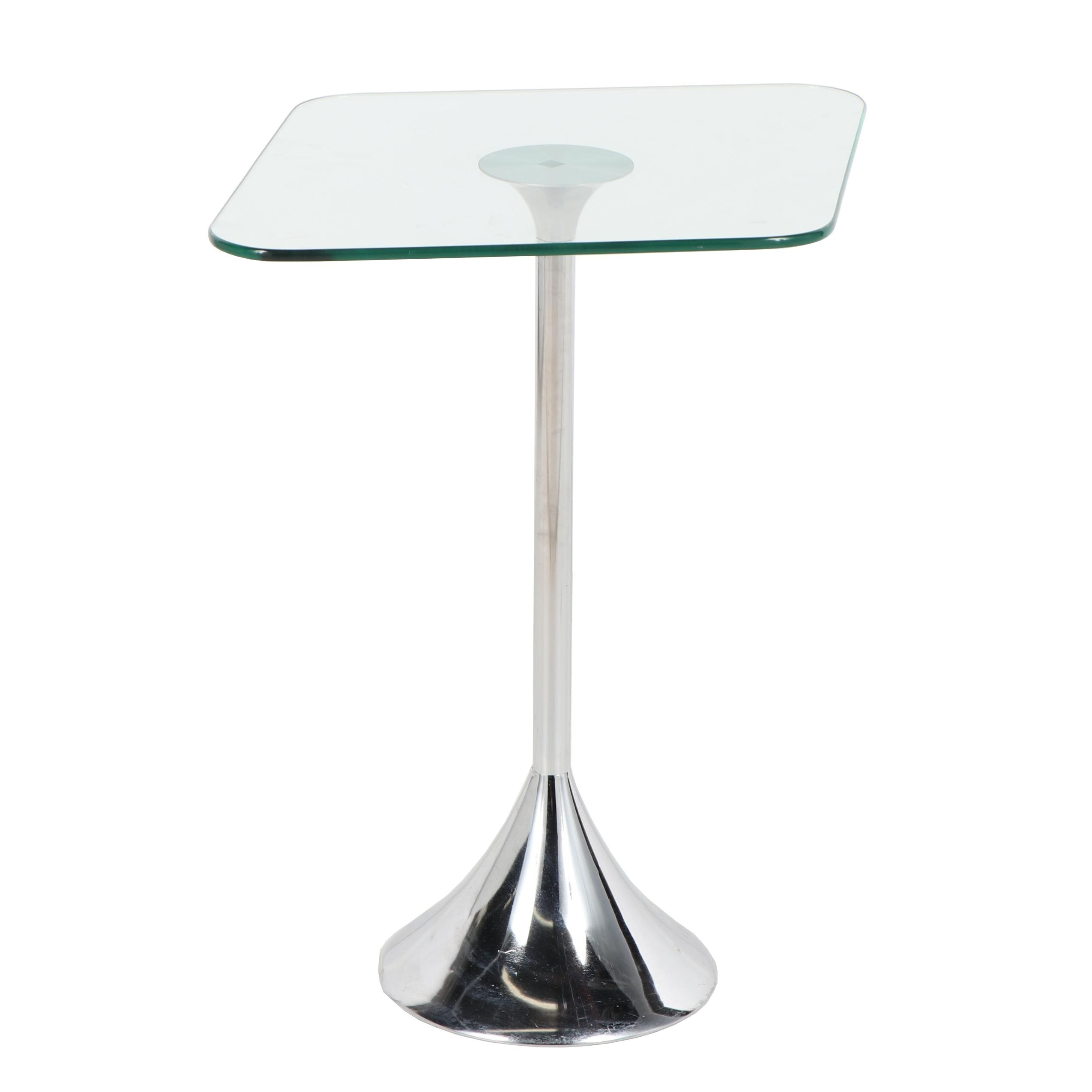 Contemporary Metal and Glass Side Table by David Quan for Umbra