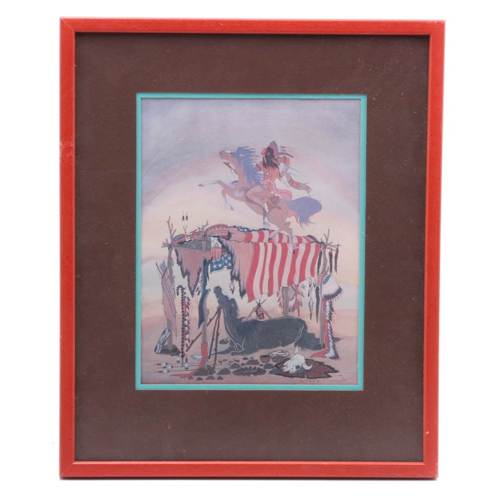 Woody Crumbo Native American Offset Lithograph