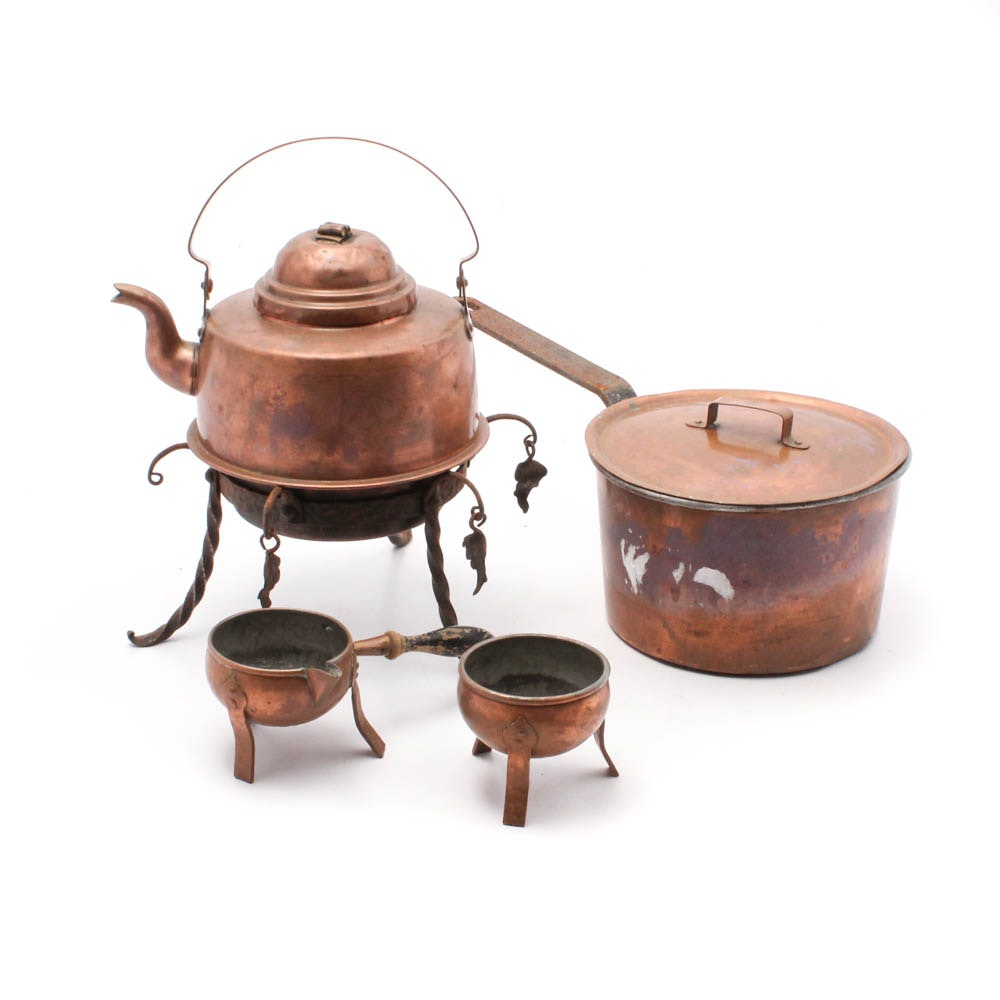 Copper Cookware and Tableware Collection
