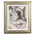 Oscar Murillo Pastel Drawing