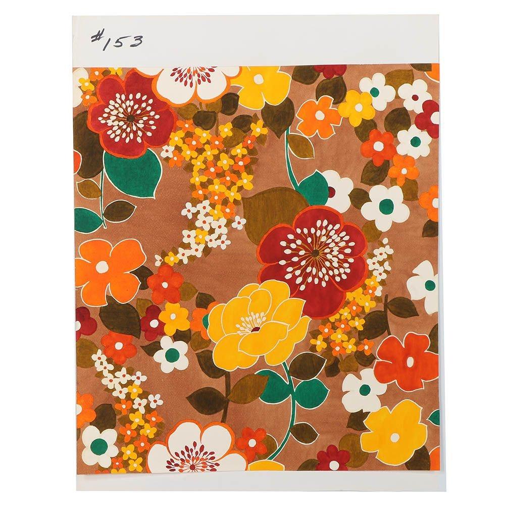 Marubeni Watercolor Floral Textile Design Proof