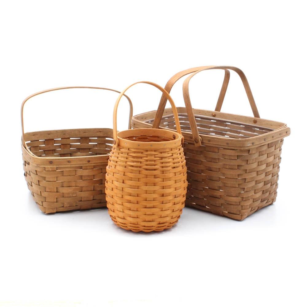 Longaberger Baskets Including a Presentation Pedestal