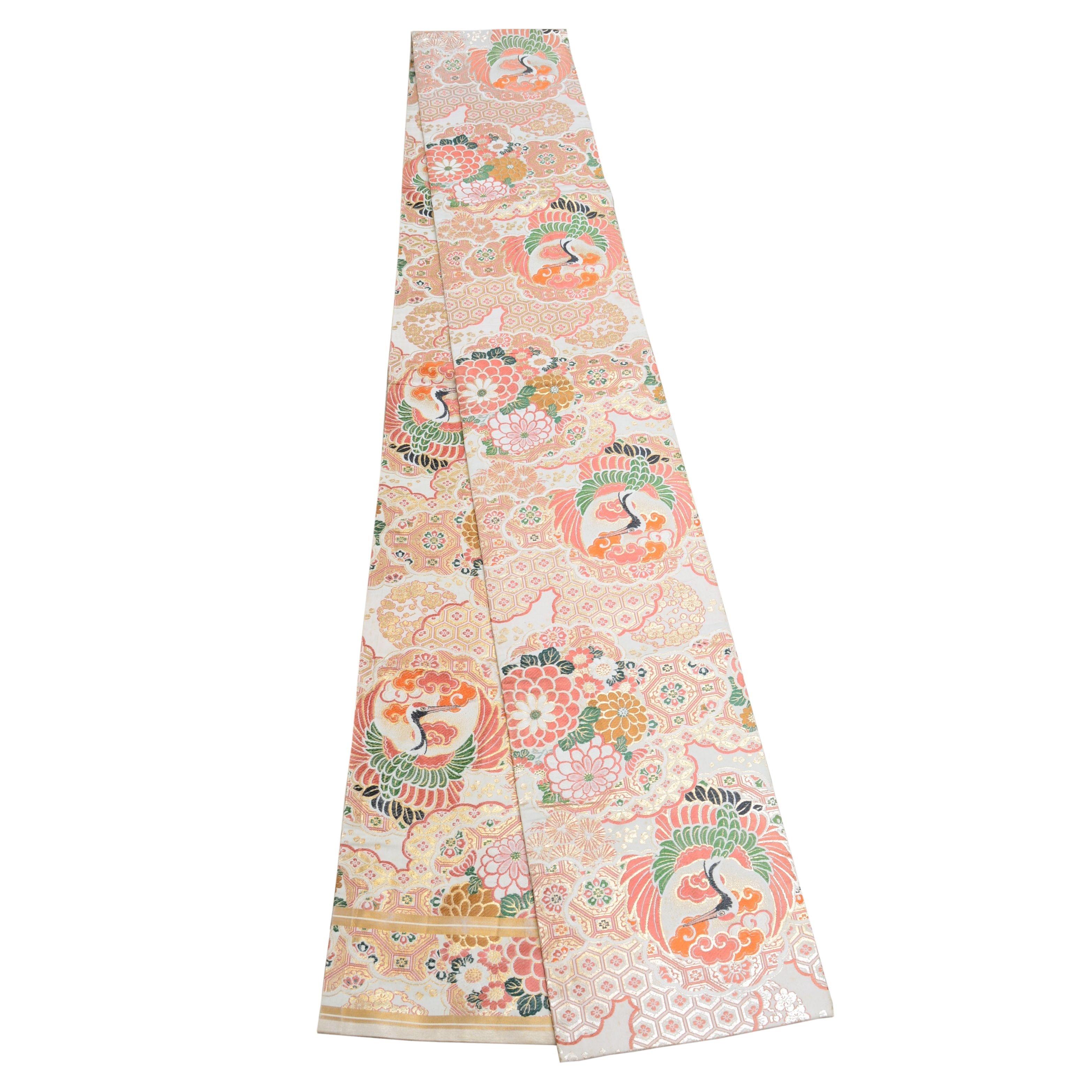 Japanese Embroidered Silk Obi