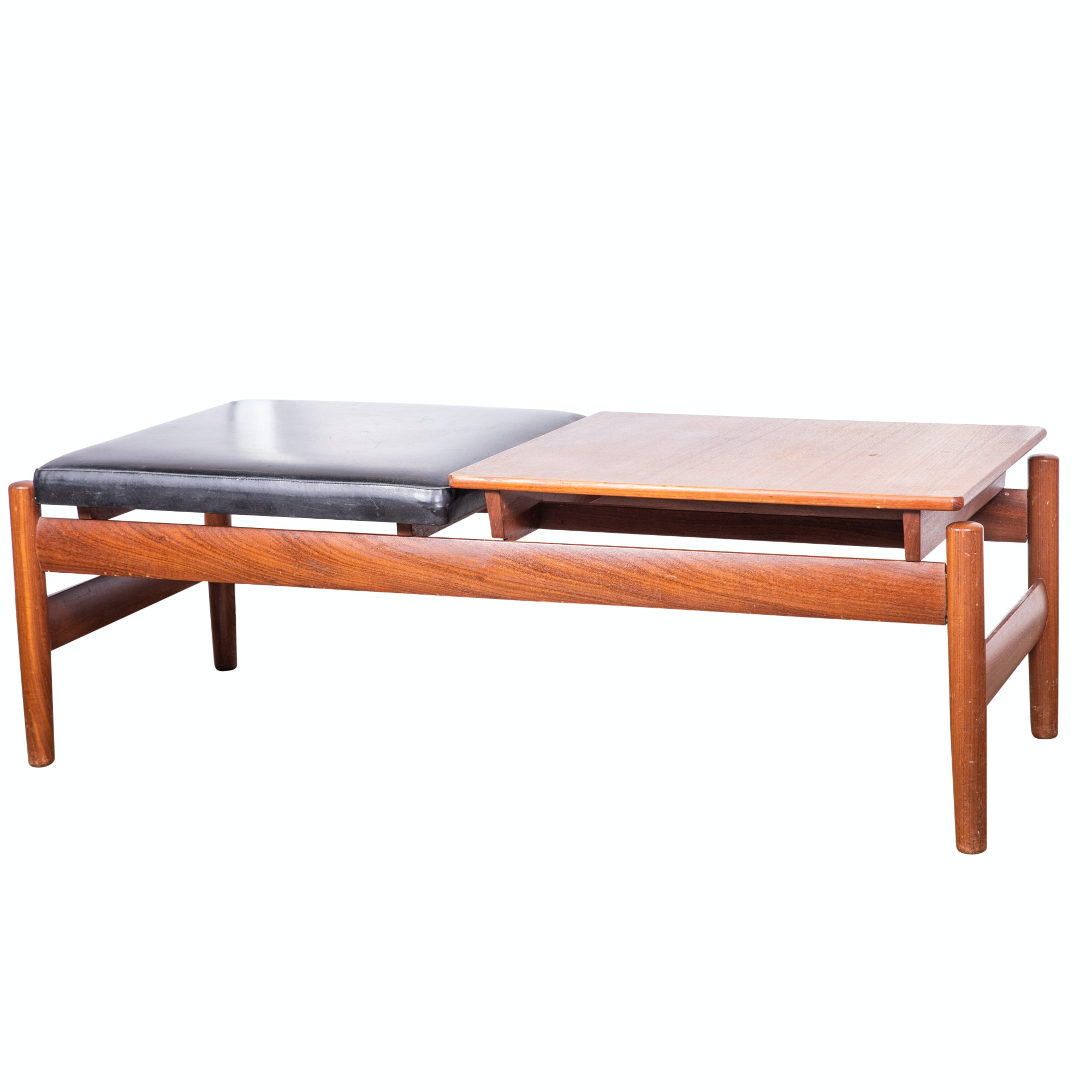 Scandinavian Modern Modular Tray Top Teak Bench by Karl Sorlie & Sonner, 20th C