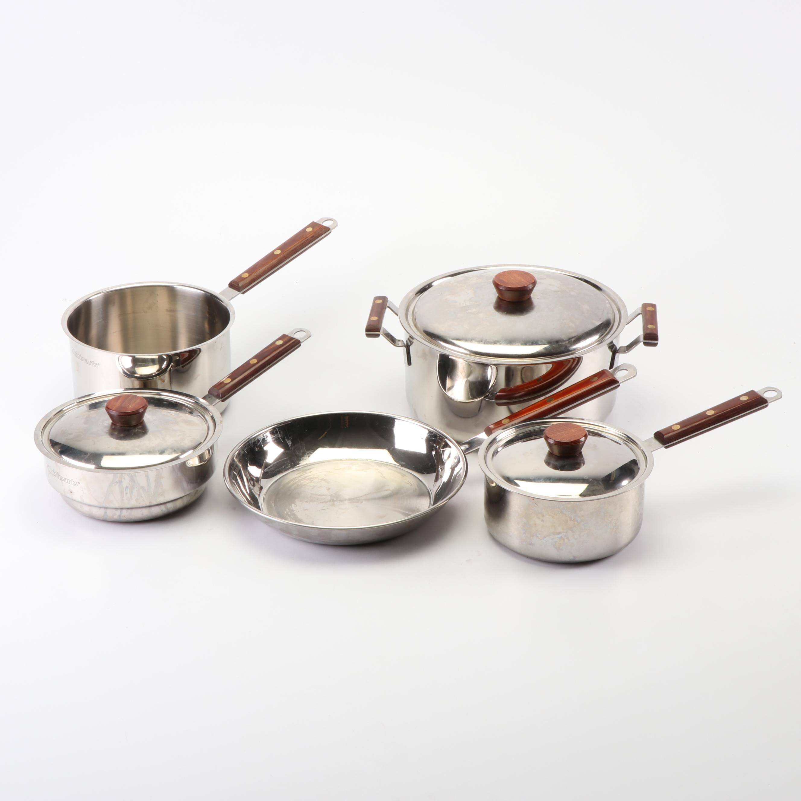 Cuisinart Stainless Steel Pots and Pans with Wooden Handles