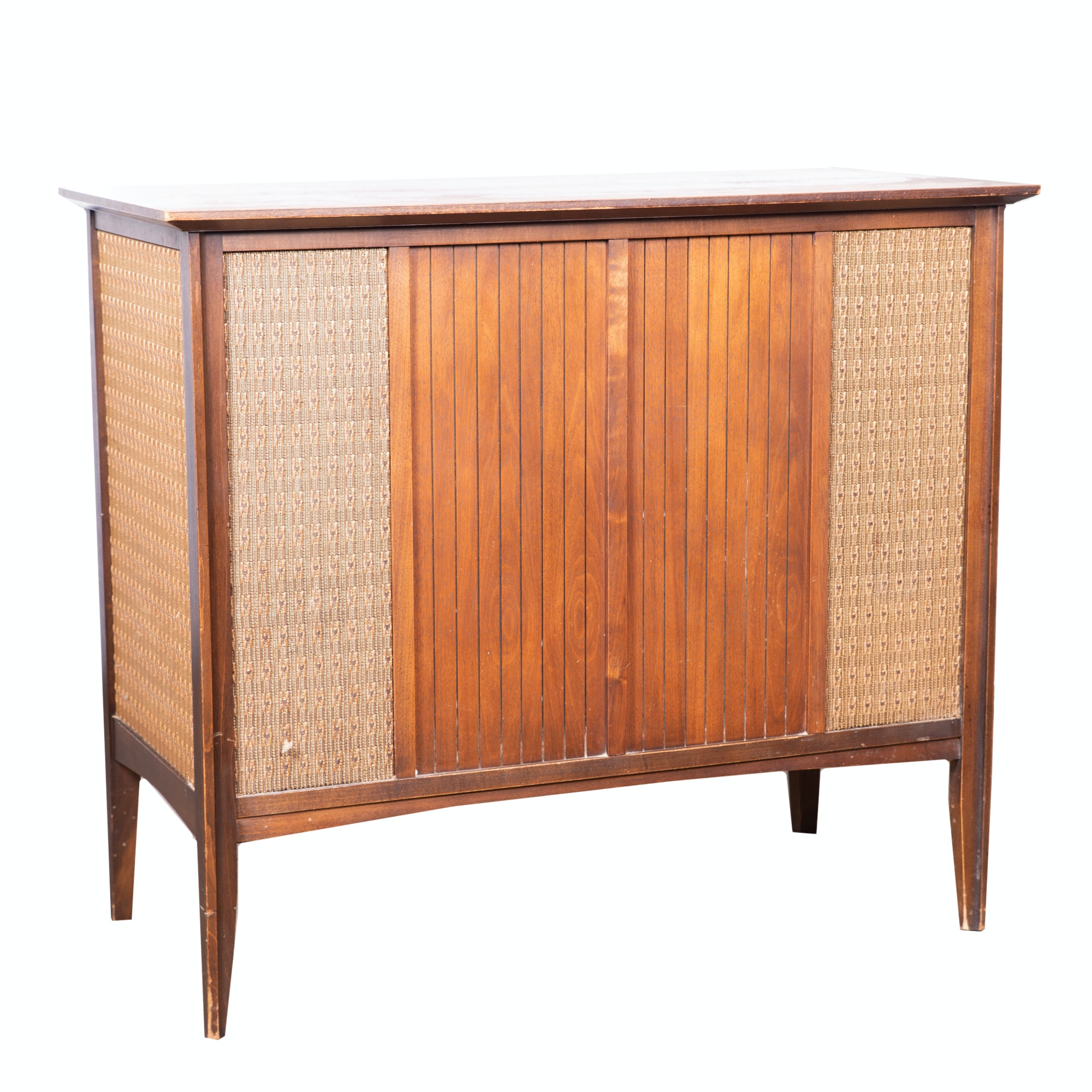 Mid Century Modern Walnut Record and Stereo Cabinet by Penncrest, 20th Century