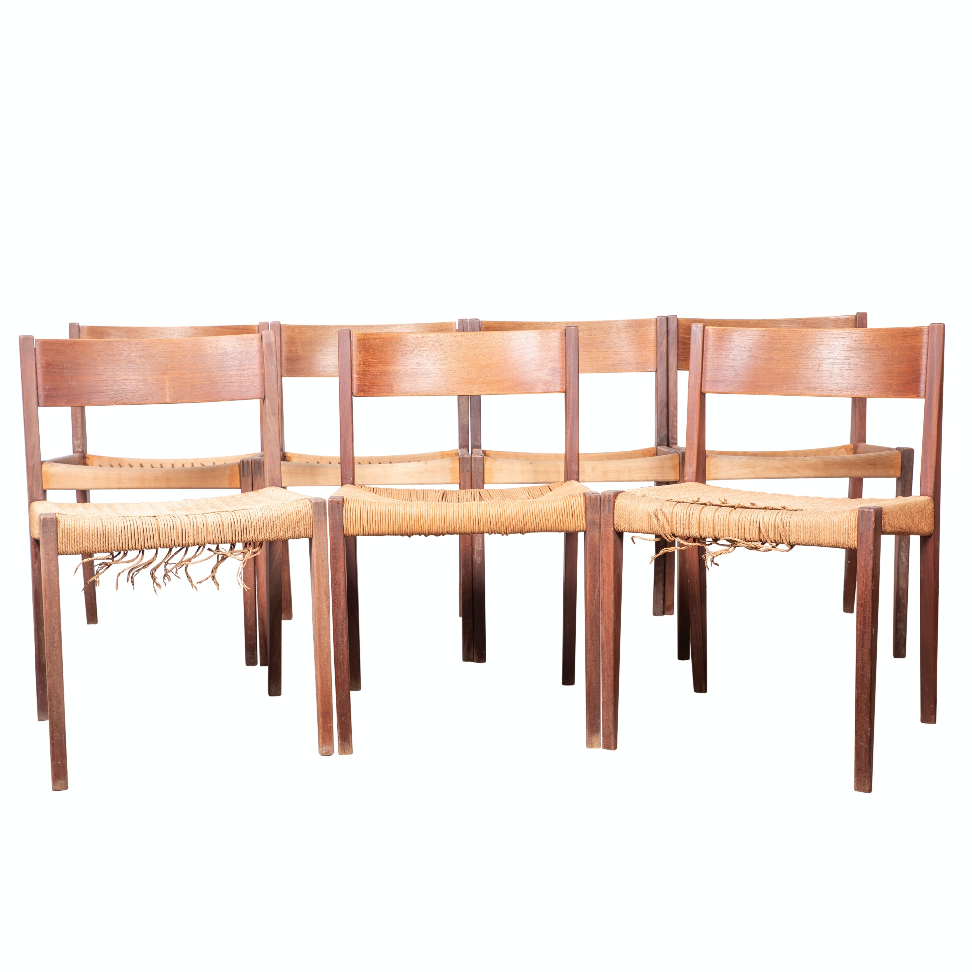 Danish Modern Teak Dining Chairs, Mid-20th Century