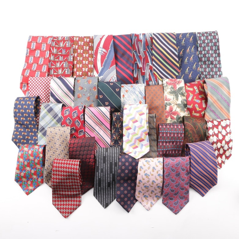 Givenchy Monsieur, Pierre Cardin, Robert Talbott and Other Ties including Silk