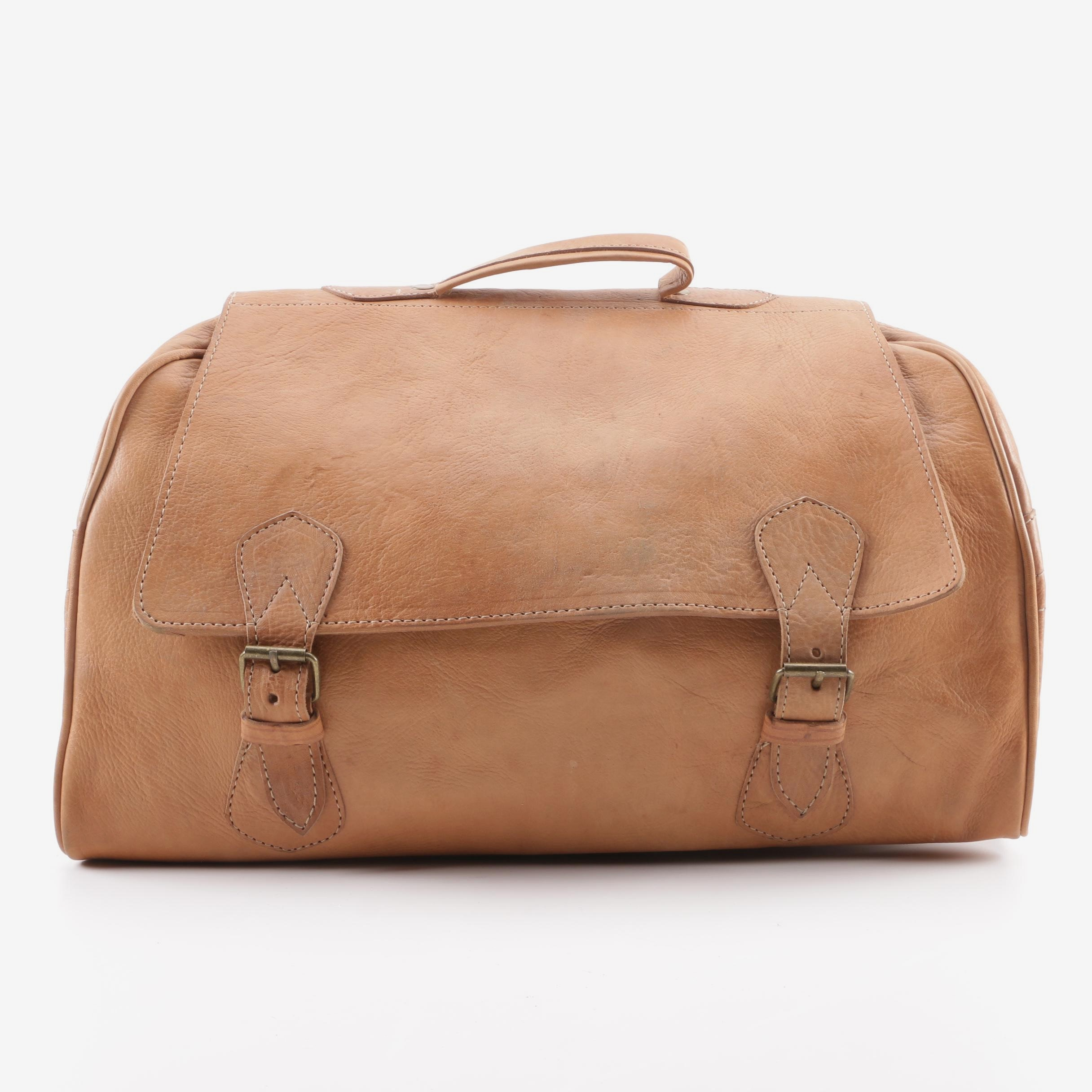 "Moroccan Leather ""Travelers"" Duffel Bag"