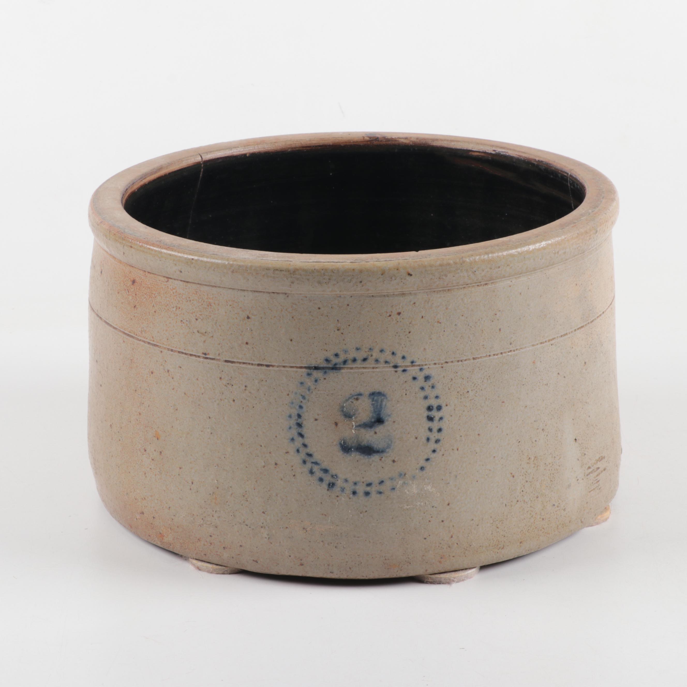 Stoneware Butter Crock