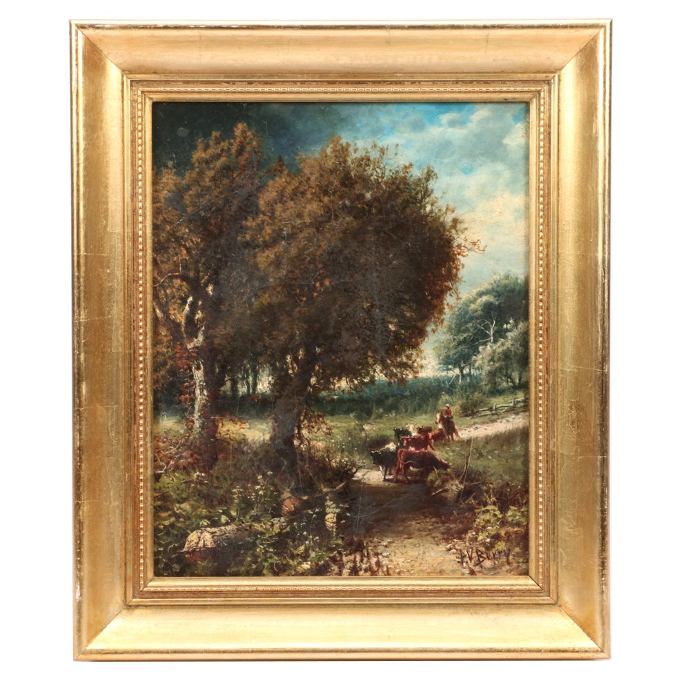 Patrick Vincent Berry Oil Painting of a Pastoral Landscape
