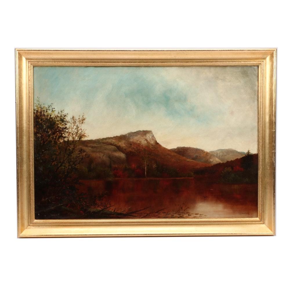 Ida H. Stebbins 1879 Hudson River School Landscape Oil Painting
