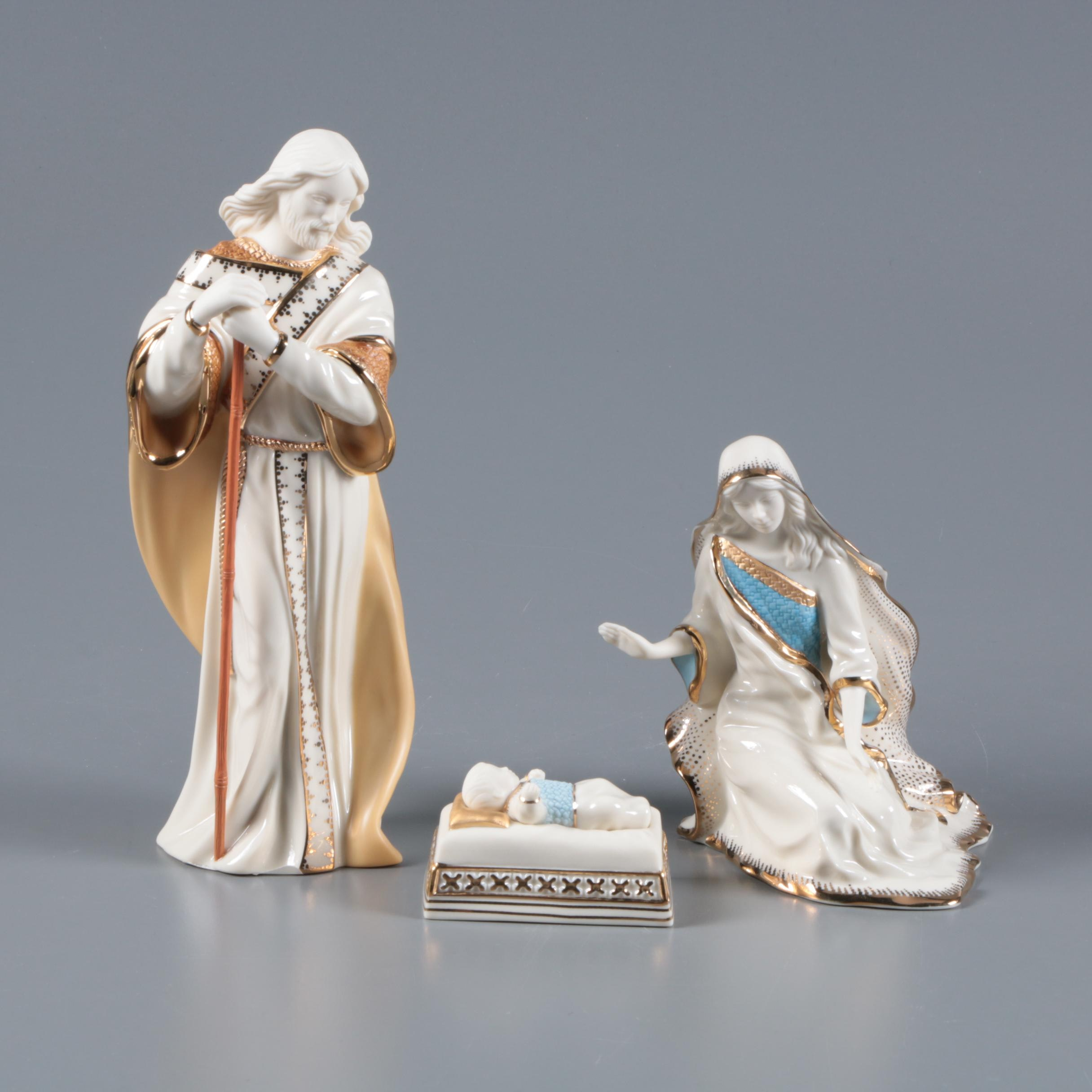 "Lenox ""First Blessing"" Porcelain Crèche Figurines"