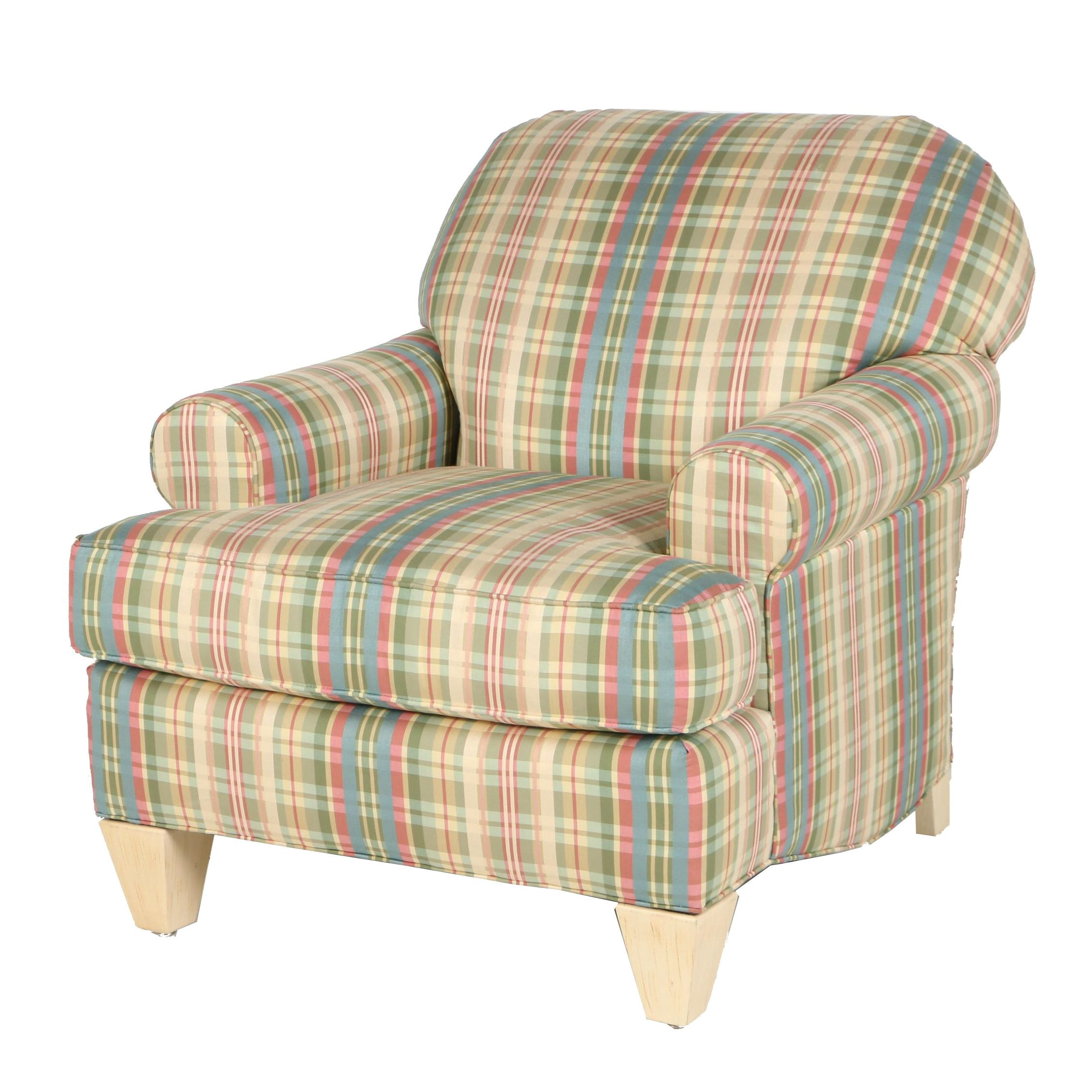 Contemporary Plaid Armchair by Stanford