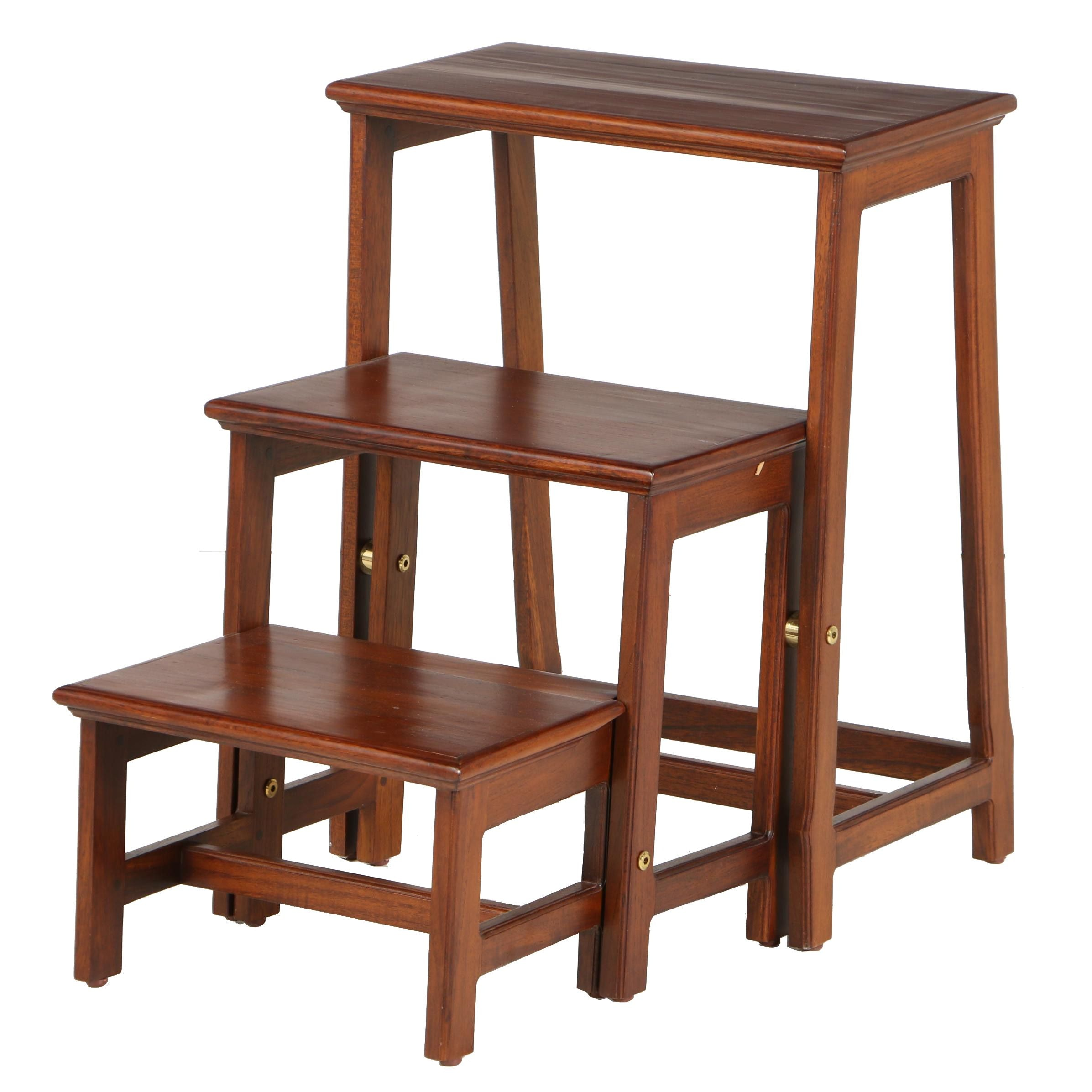Contemporary Teak Folding Library Steps by Frontgate