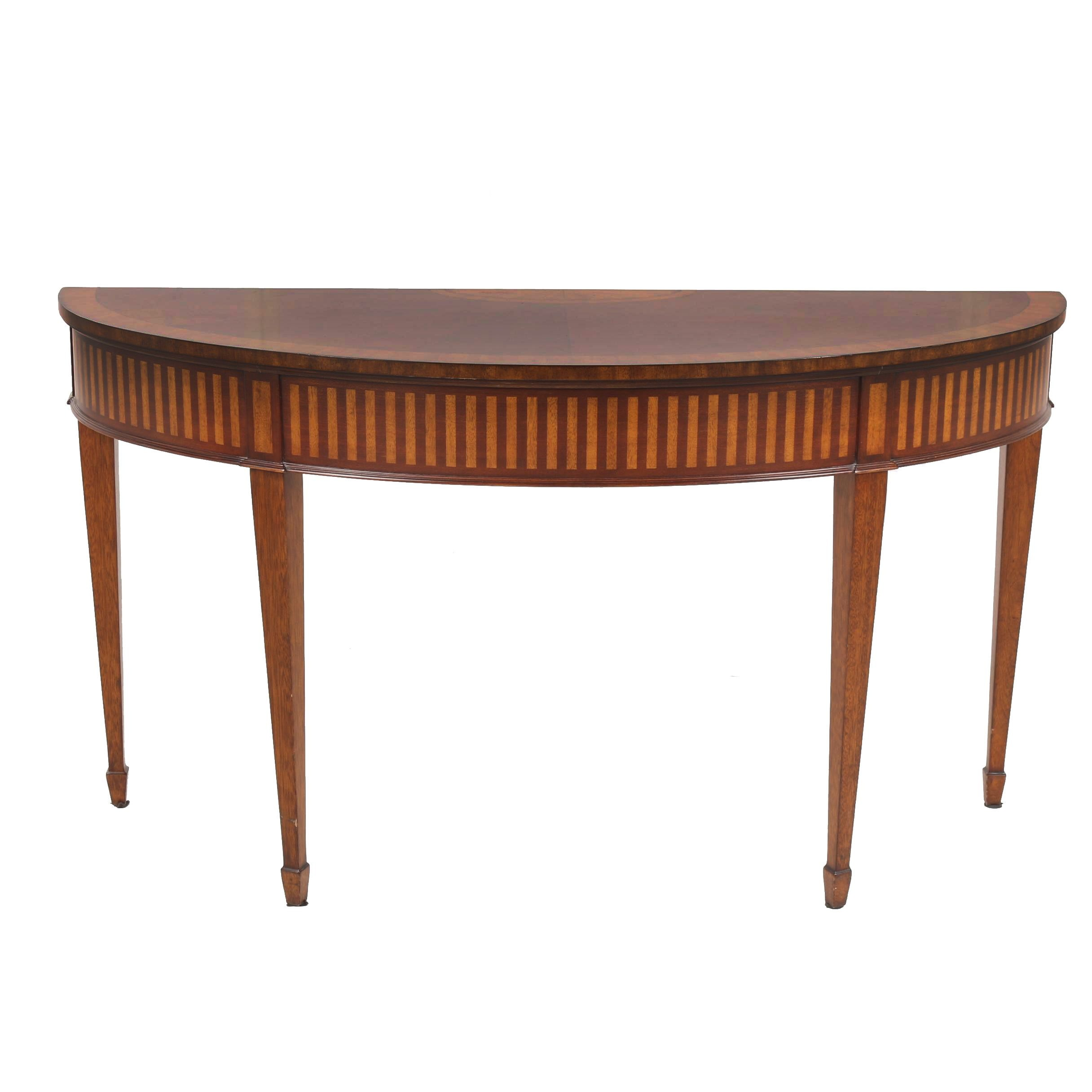 """Newman"" Walnut Console Table by Ethan Allen, 21st Century"