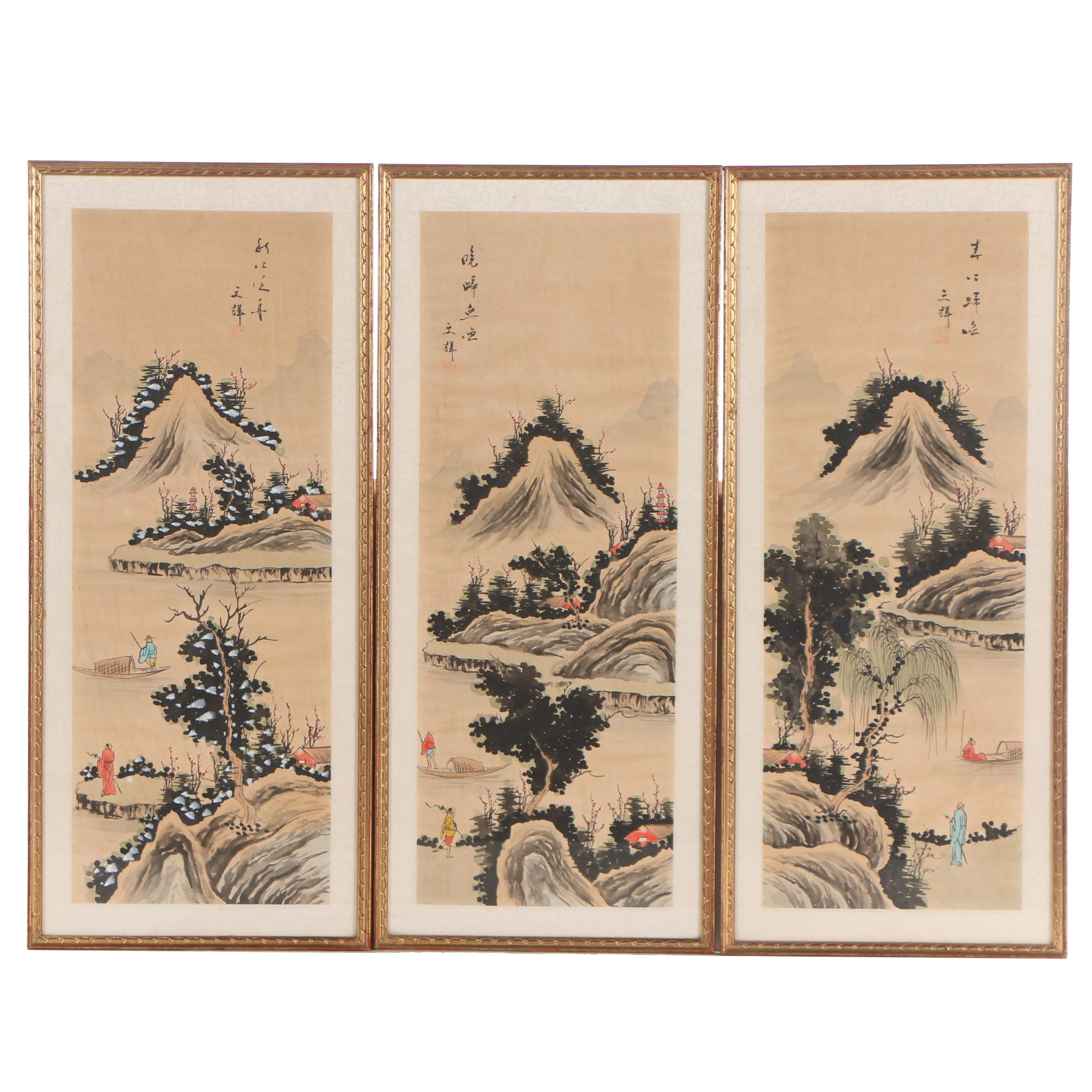 Chinese Gouache and Ink Paintings