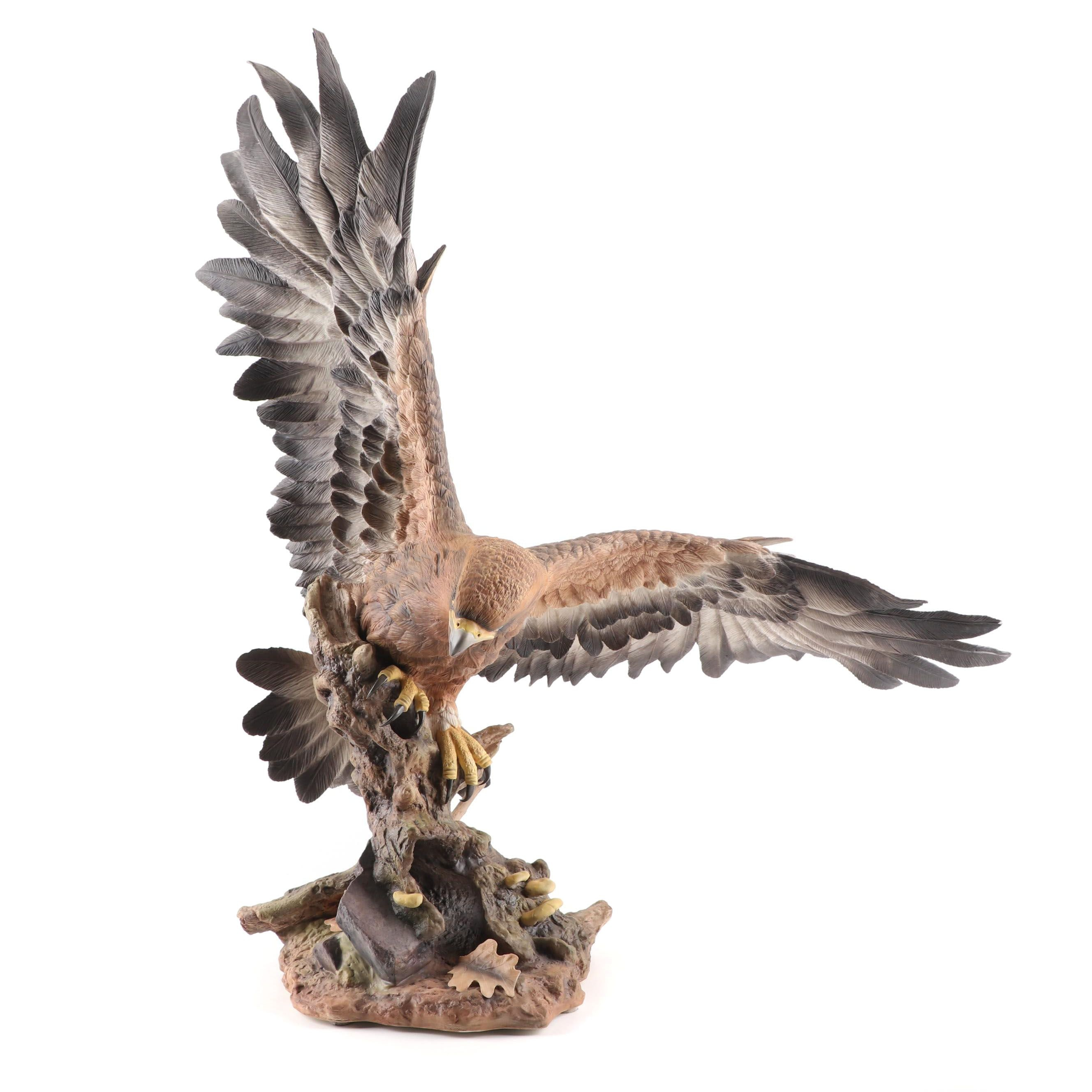 "Boehm Limited Edition Porcelain ""Golden Eagle"" Figurine, Late 20th Century"