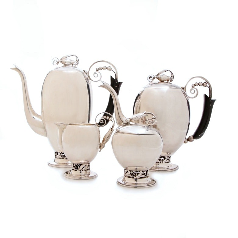 Esquire 950 Silver Danish Style Tea Set