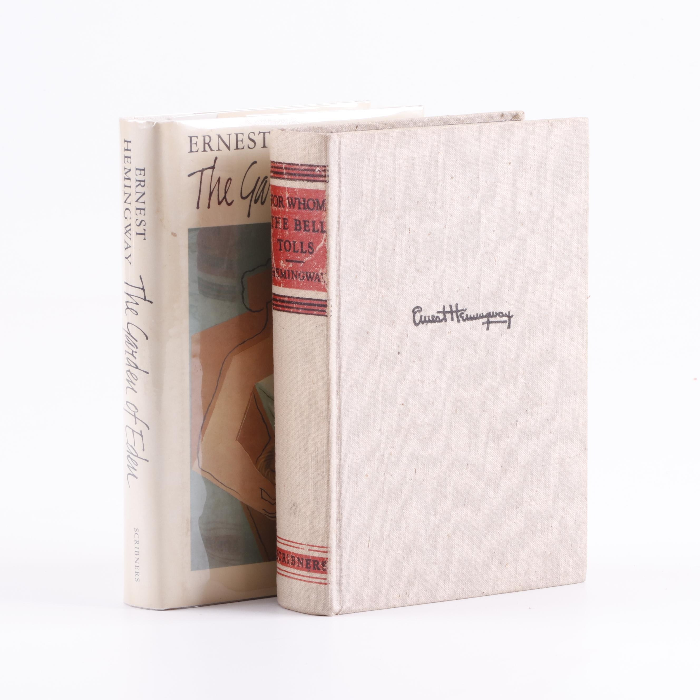 "Ernest Hemingway Books including First Edition ""The Garden of Eden"""