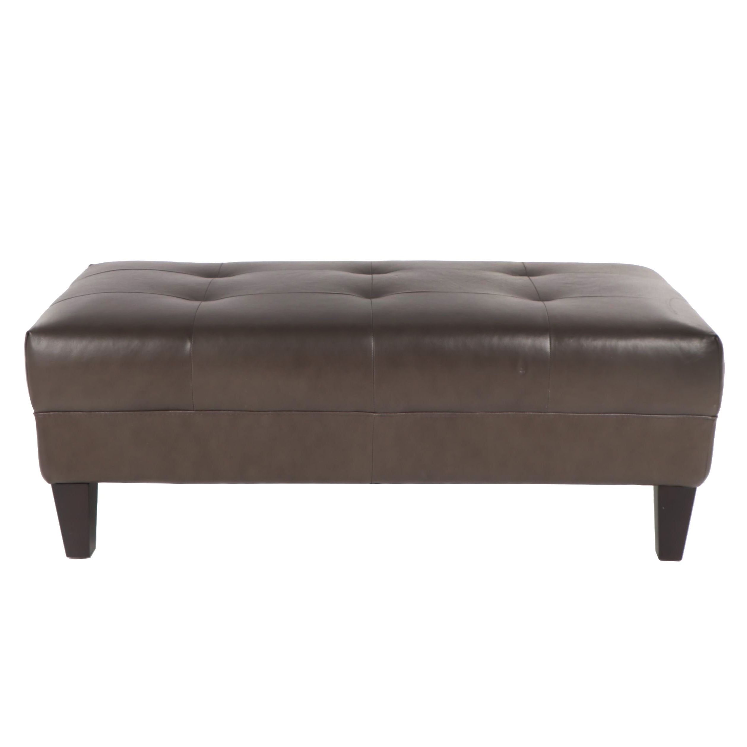 Faux Leather Bench, 21st Century