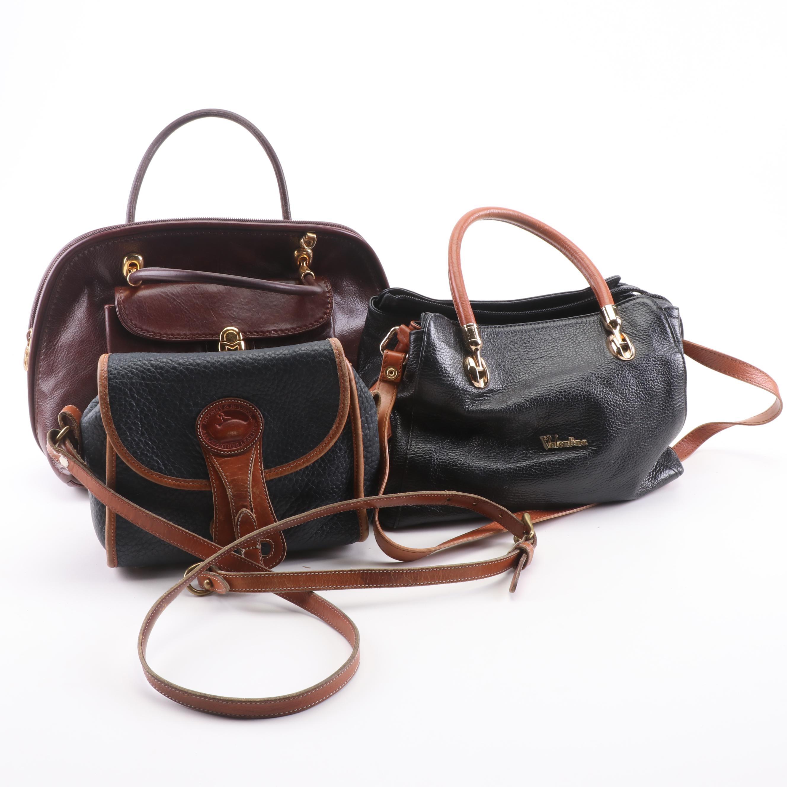 Circa 1980s Valentina, Dooney & Bourke and Marino Orlandi Handbags