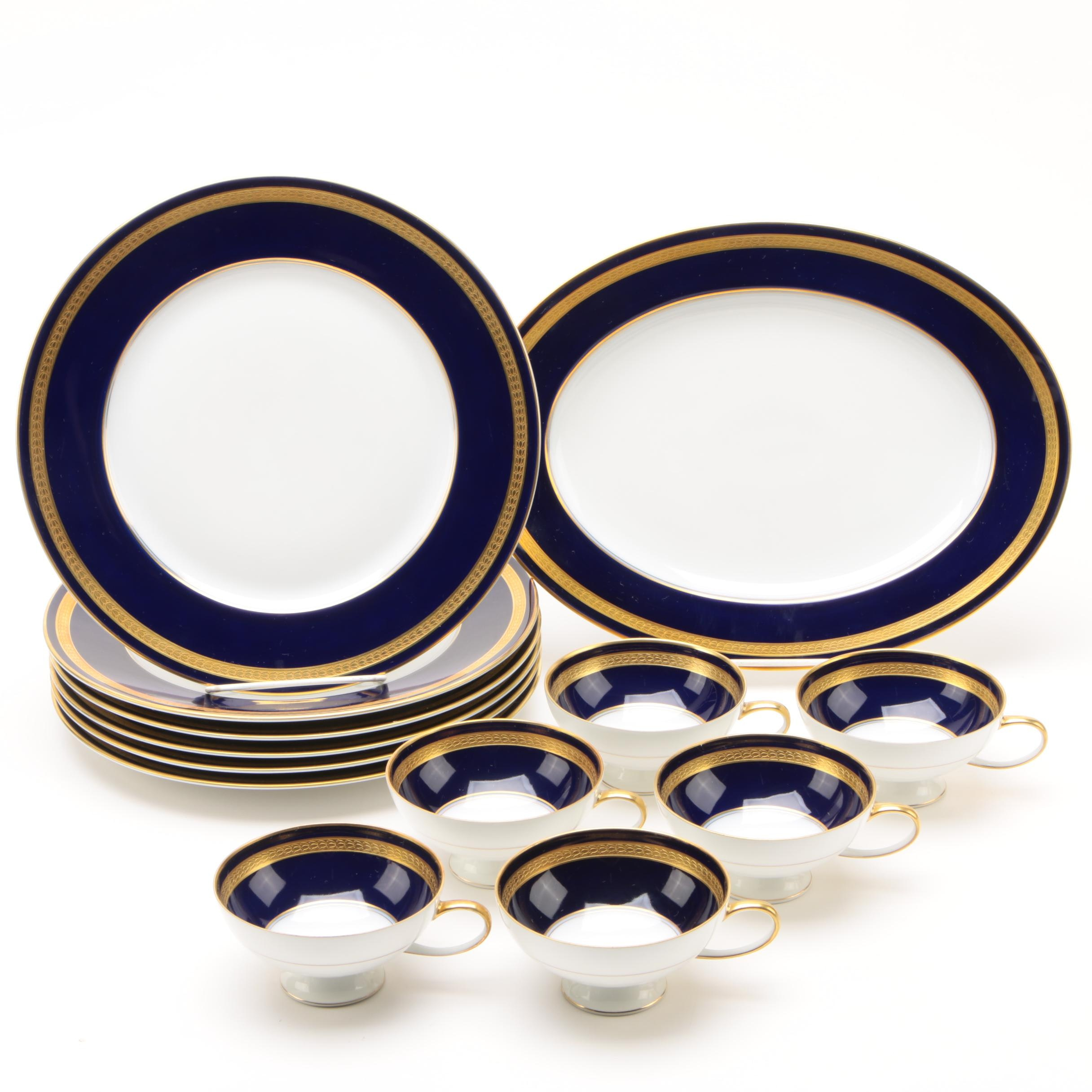 Rosenthal Cobalt and Gilt Porcelain Dinnerware