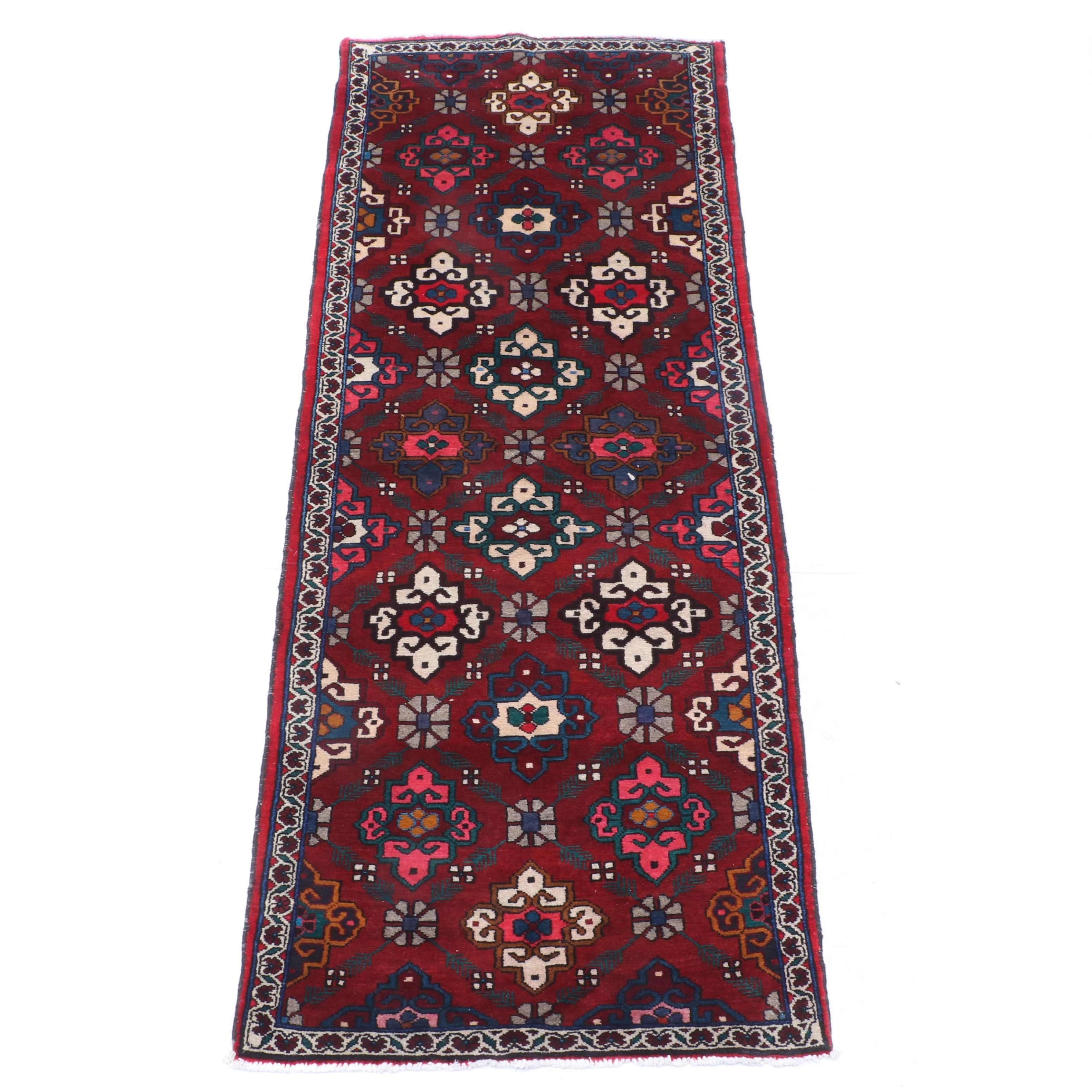 Hand-Knotted Persian Bakhtiari Long Rug