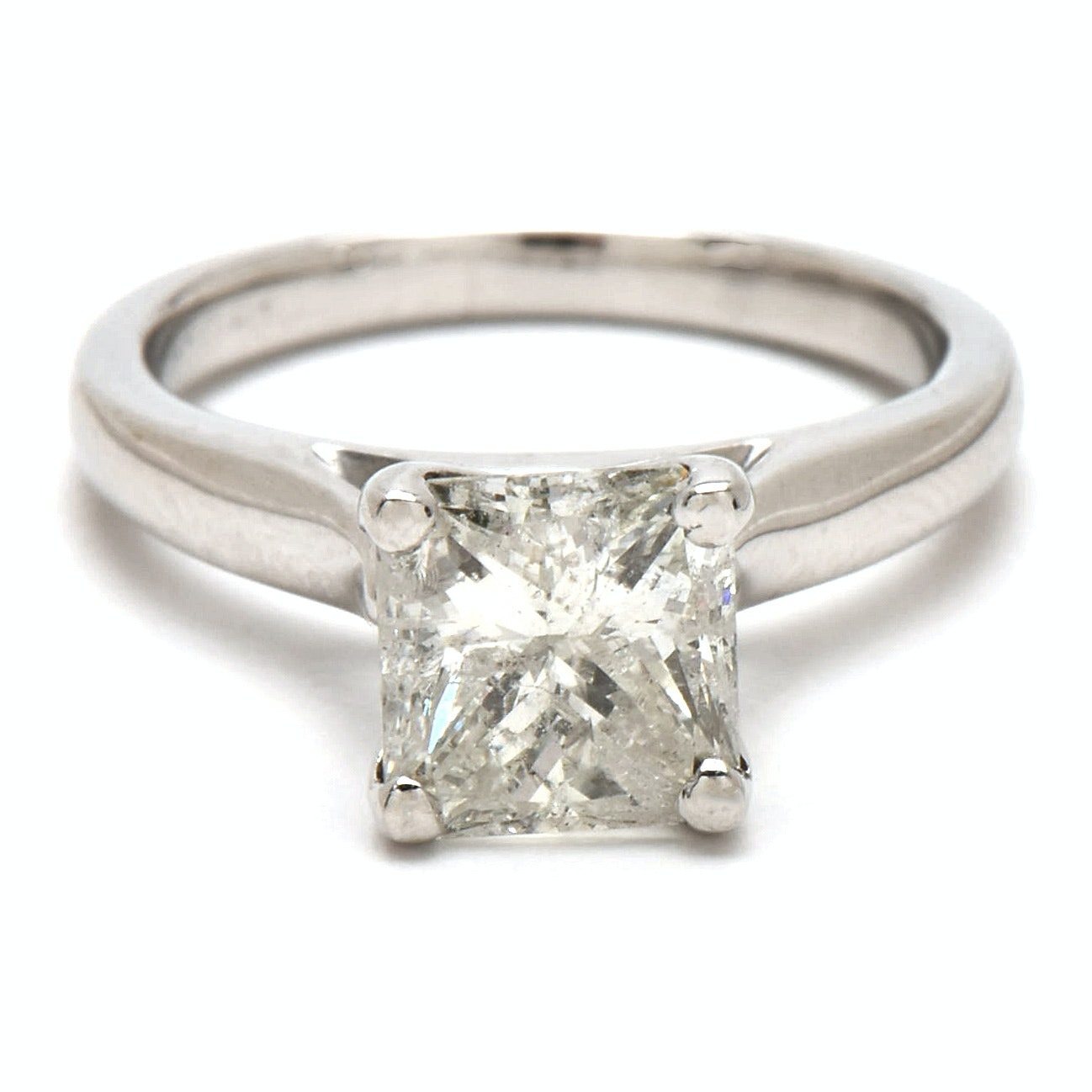 Platinum 1.80 CT Diamond Solitaire Ring