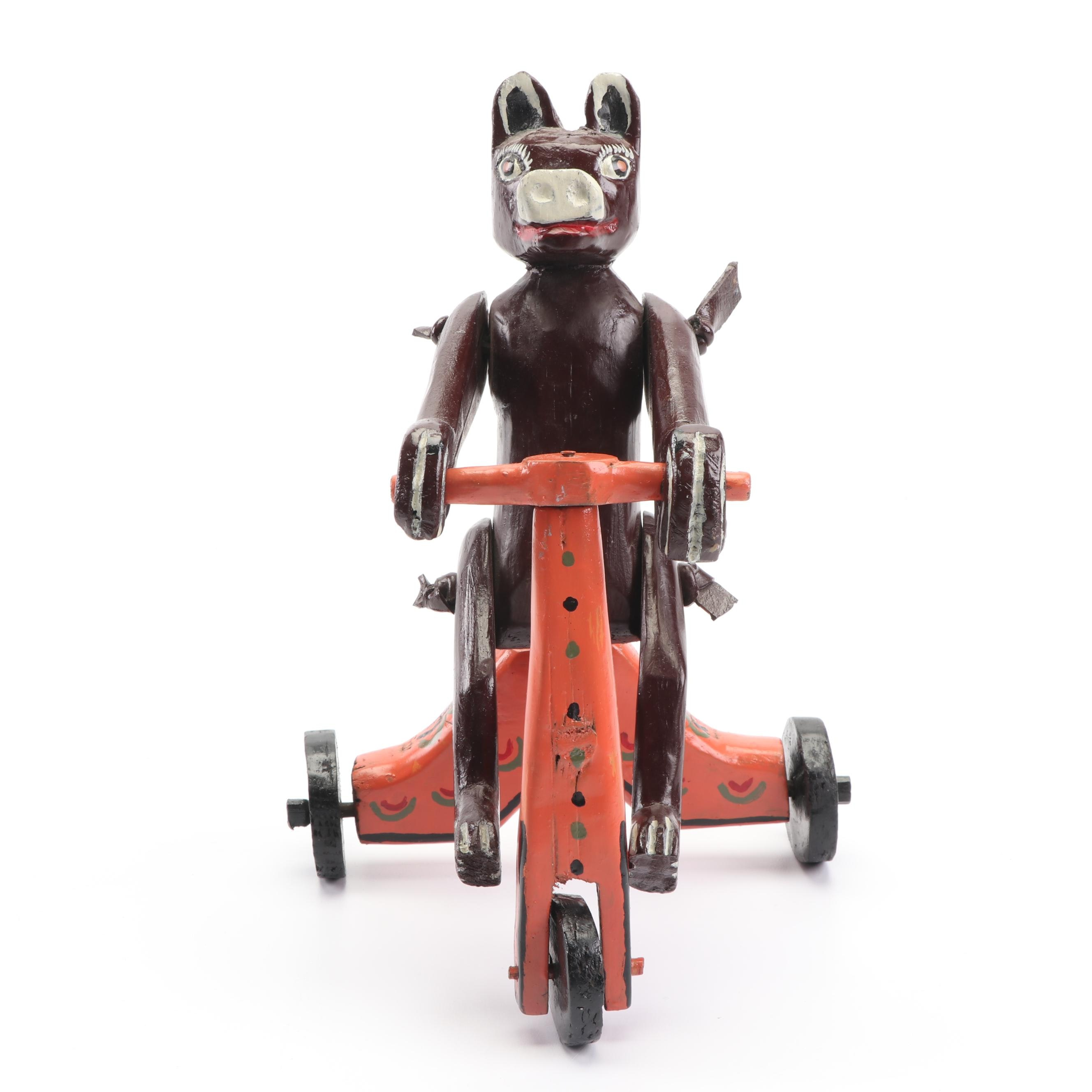 Hand-Painted Pig Riding Tricycle