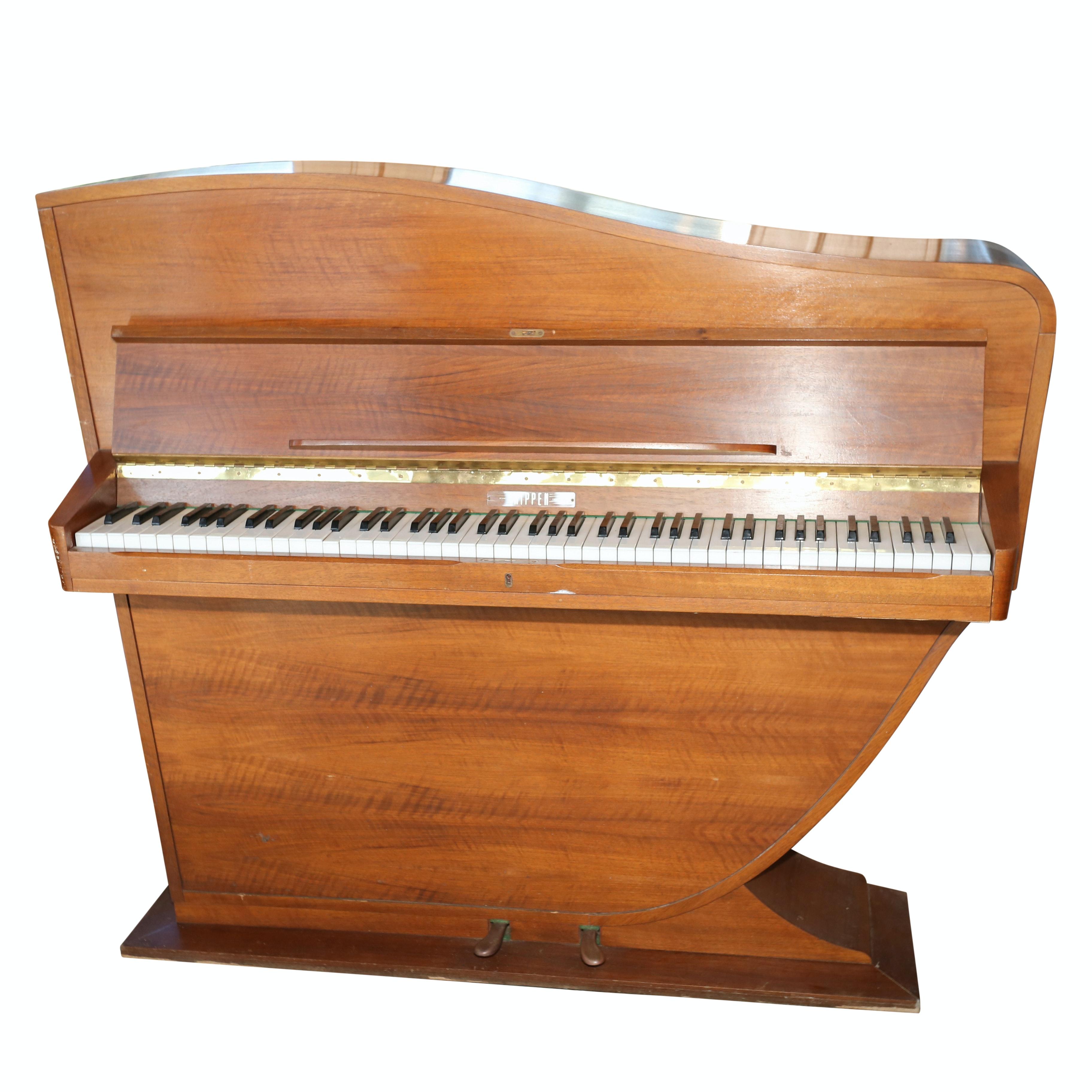 Rippen Upright Art Deco Style Piano