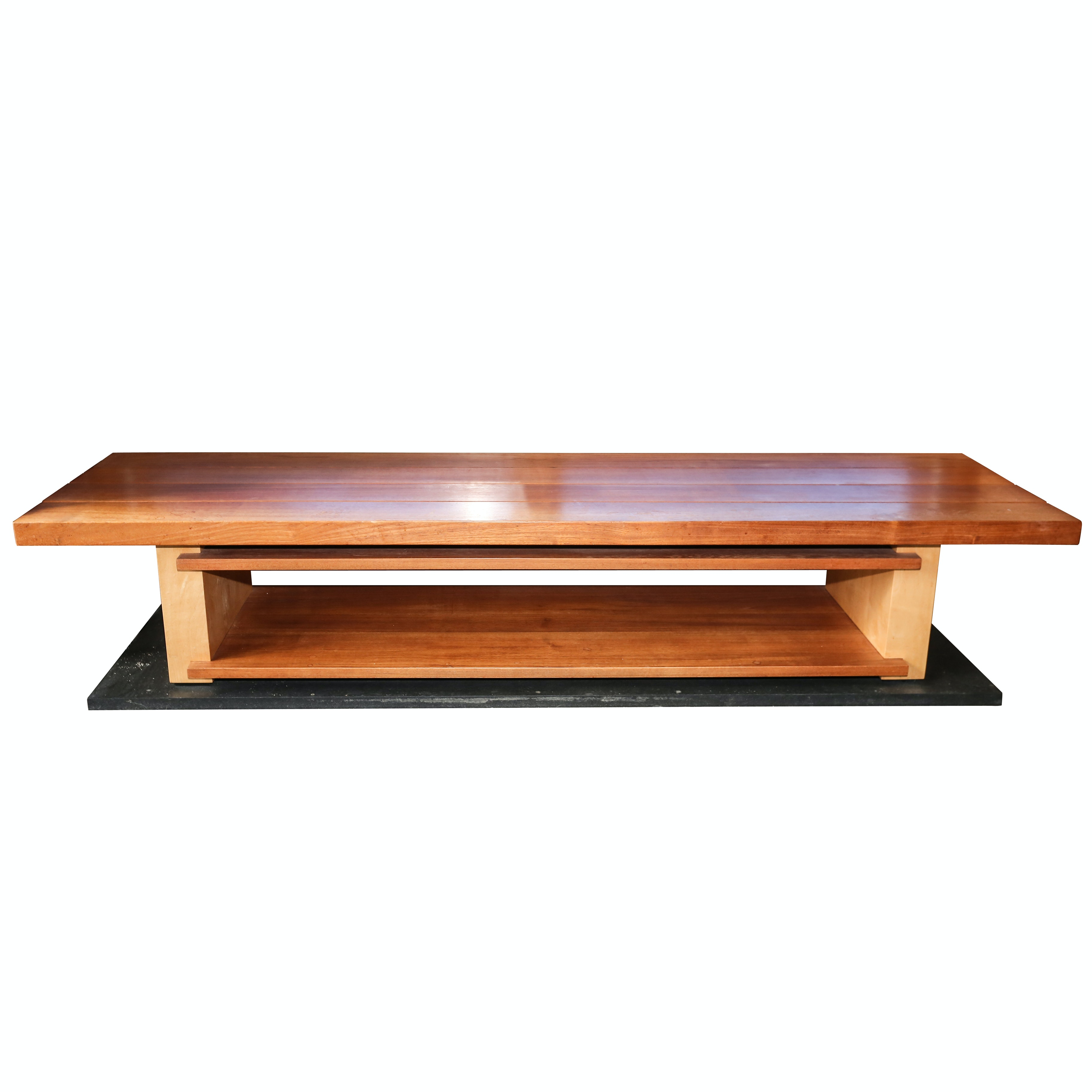Teak Two-Tier Platform Coffee Table, 20th Century