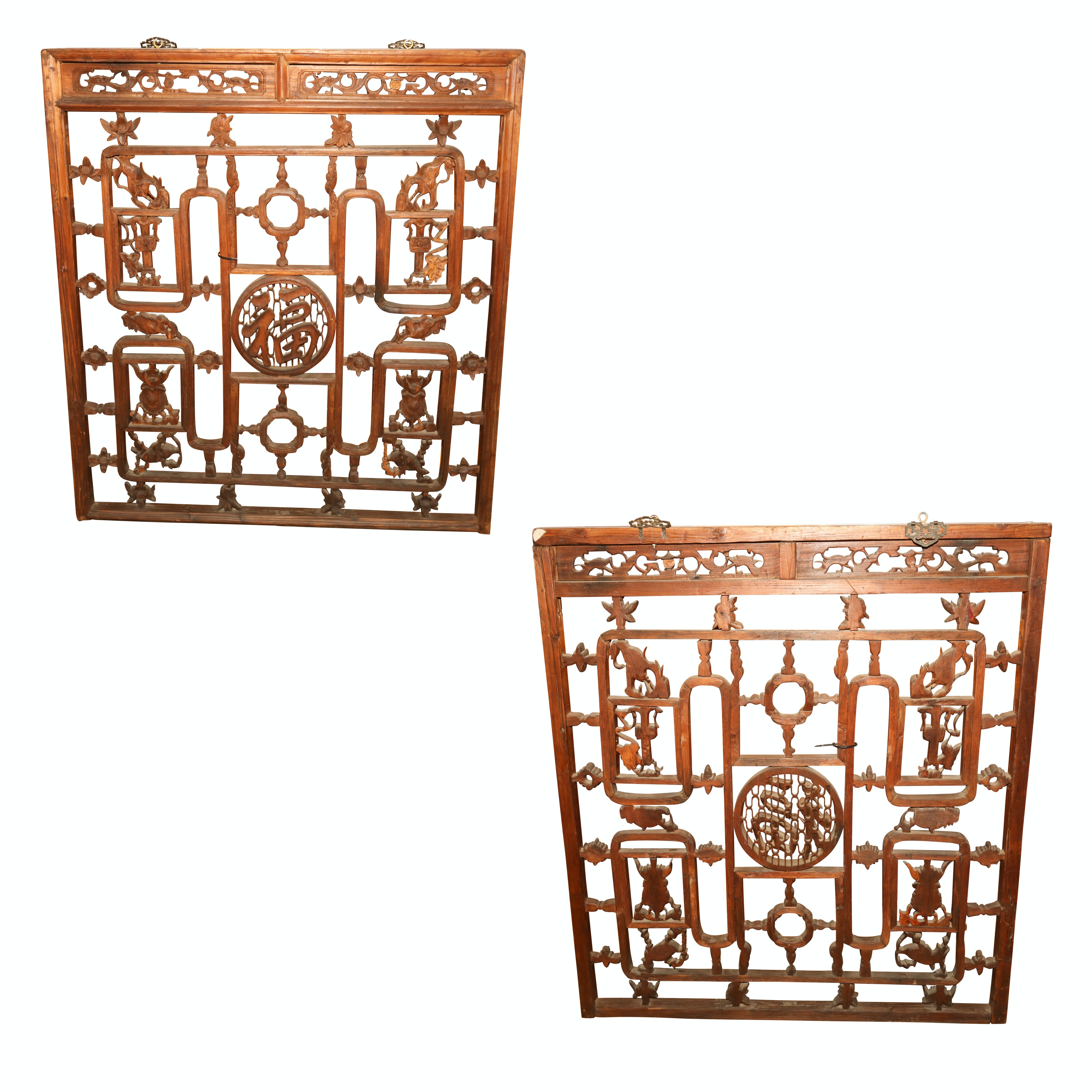 Chinese Carved Wood Panels