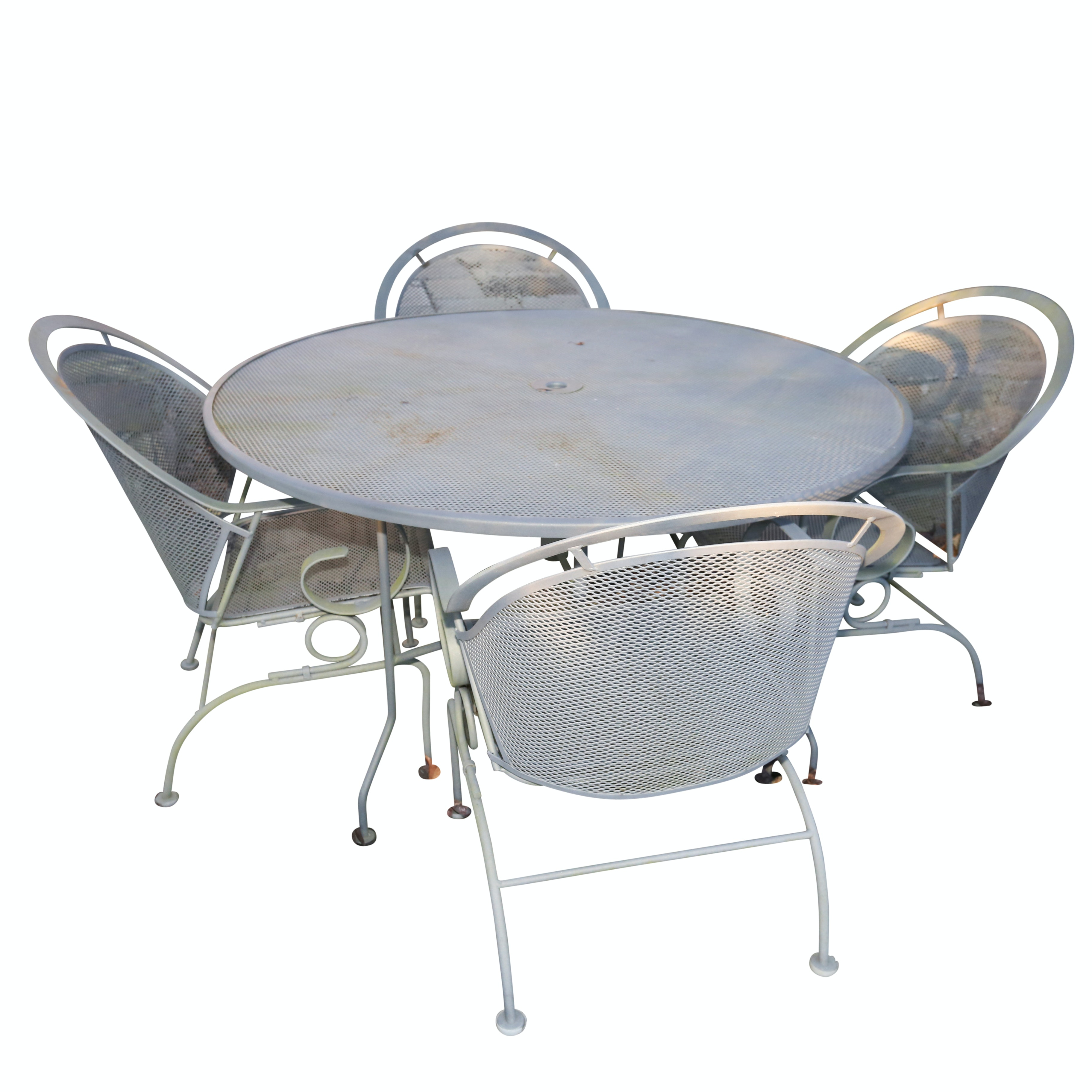 Metal Patio Table and Chairs Set, 21st Century